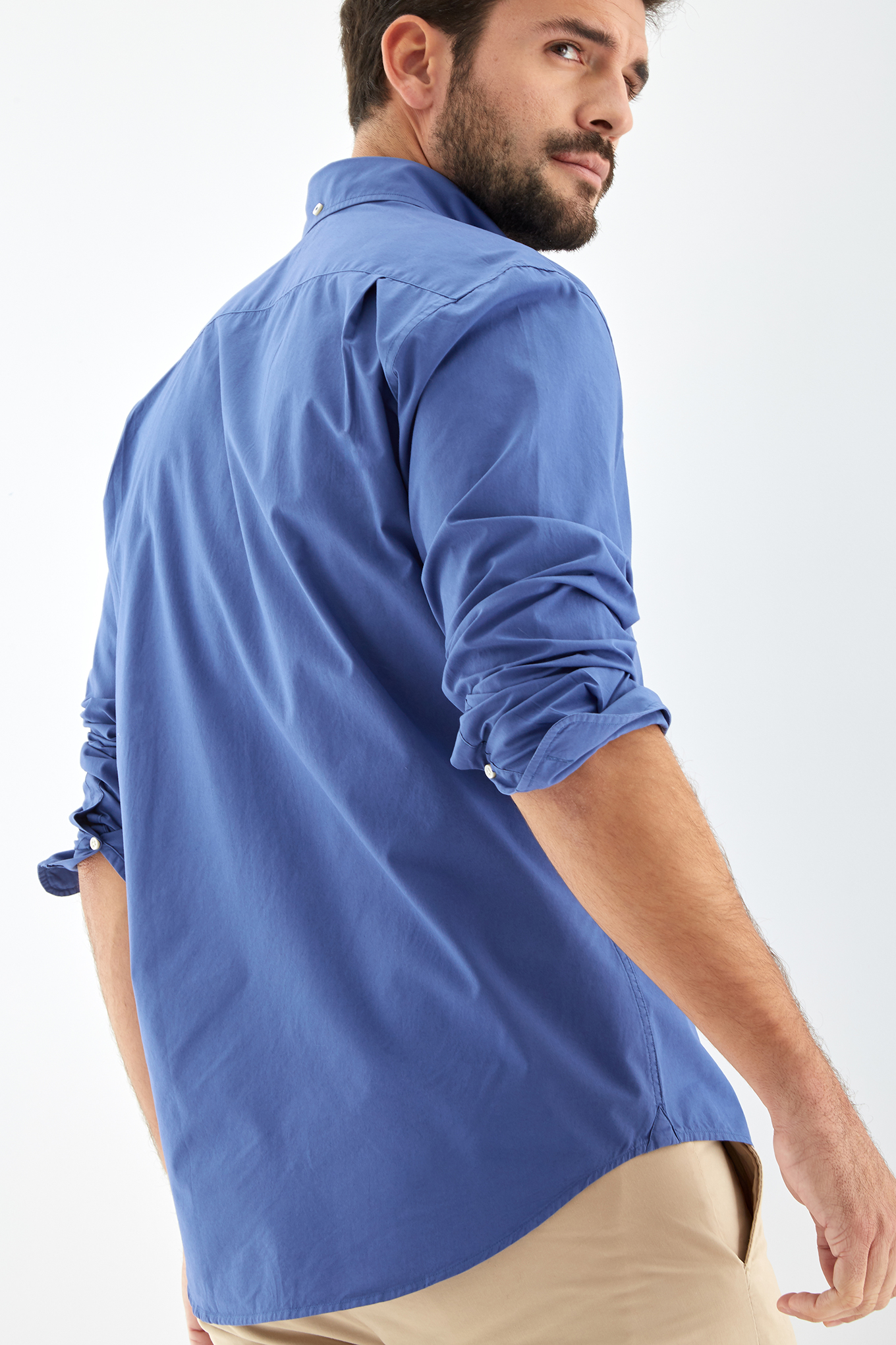 Shirt Medium Blue Sport Man