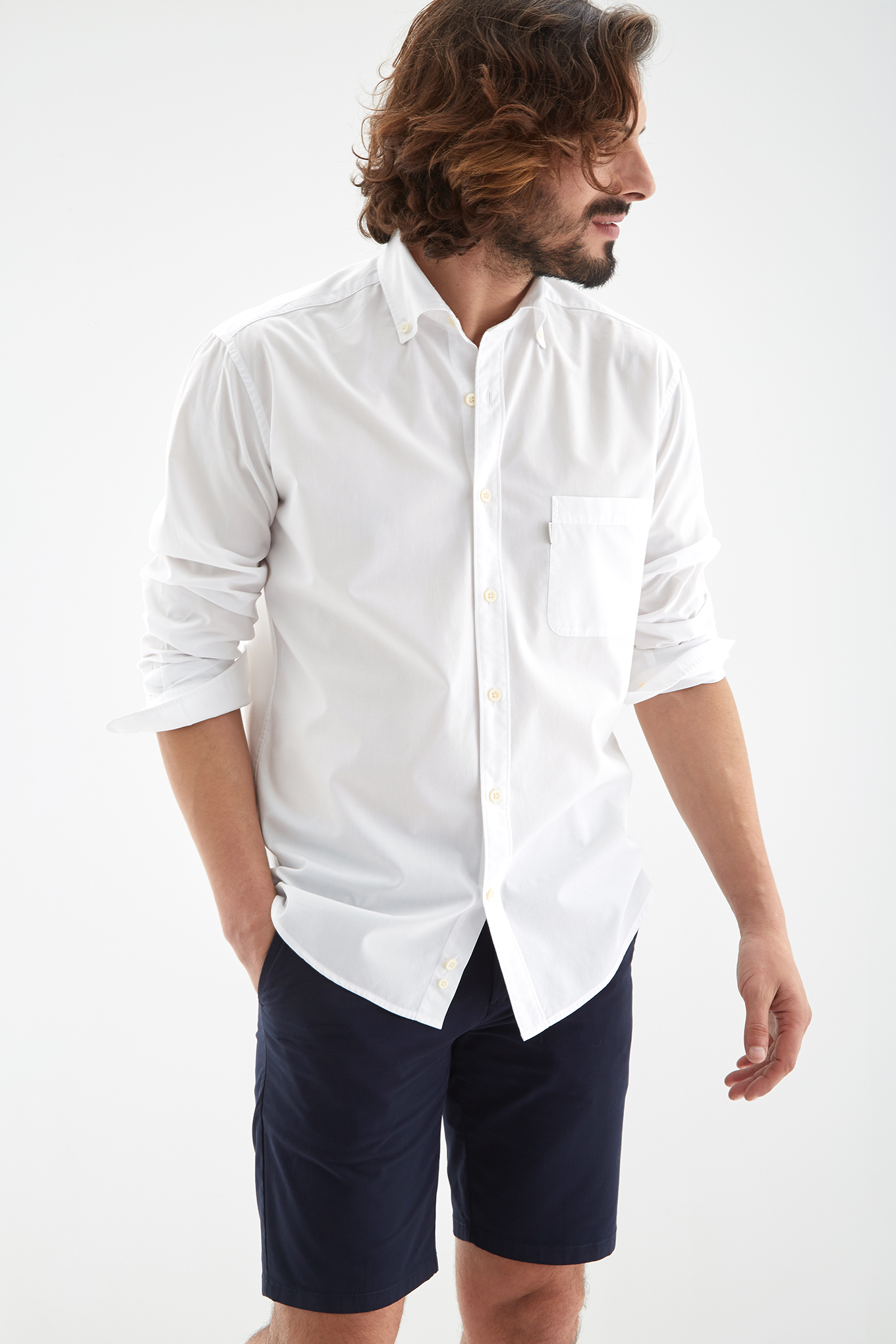 Shirt White Sport Man