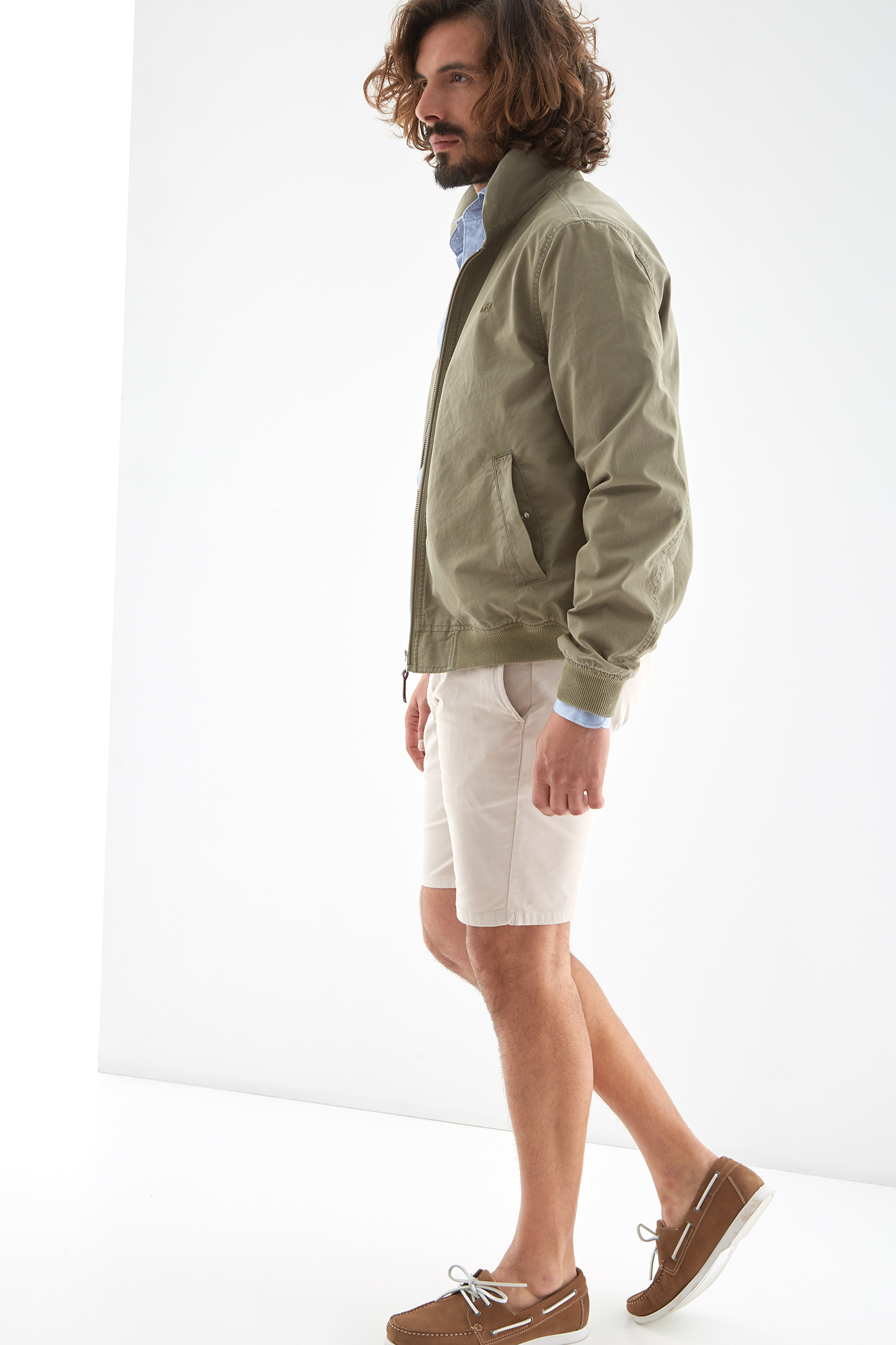 Jacket Green Casual Man