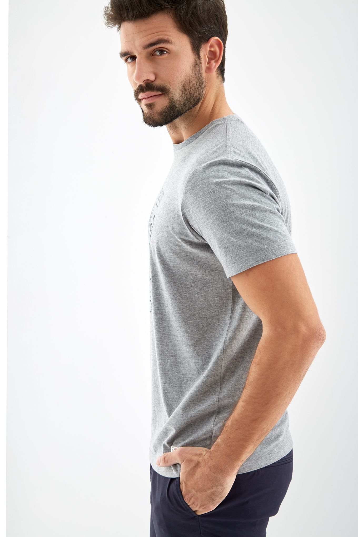 T-Shirt Mix Grey Sport Man