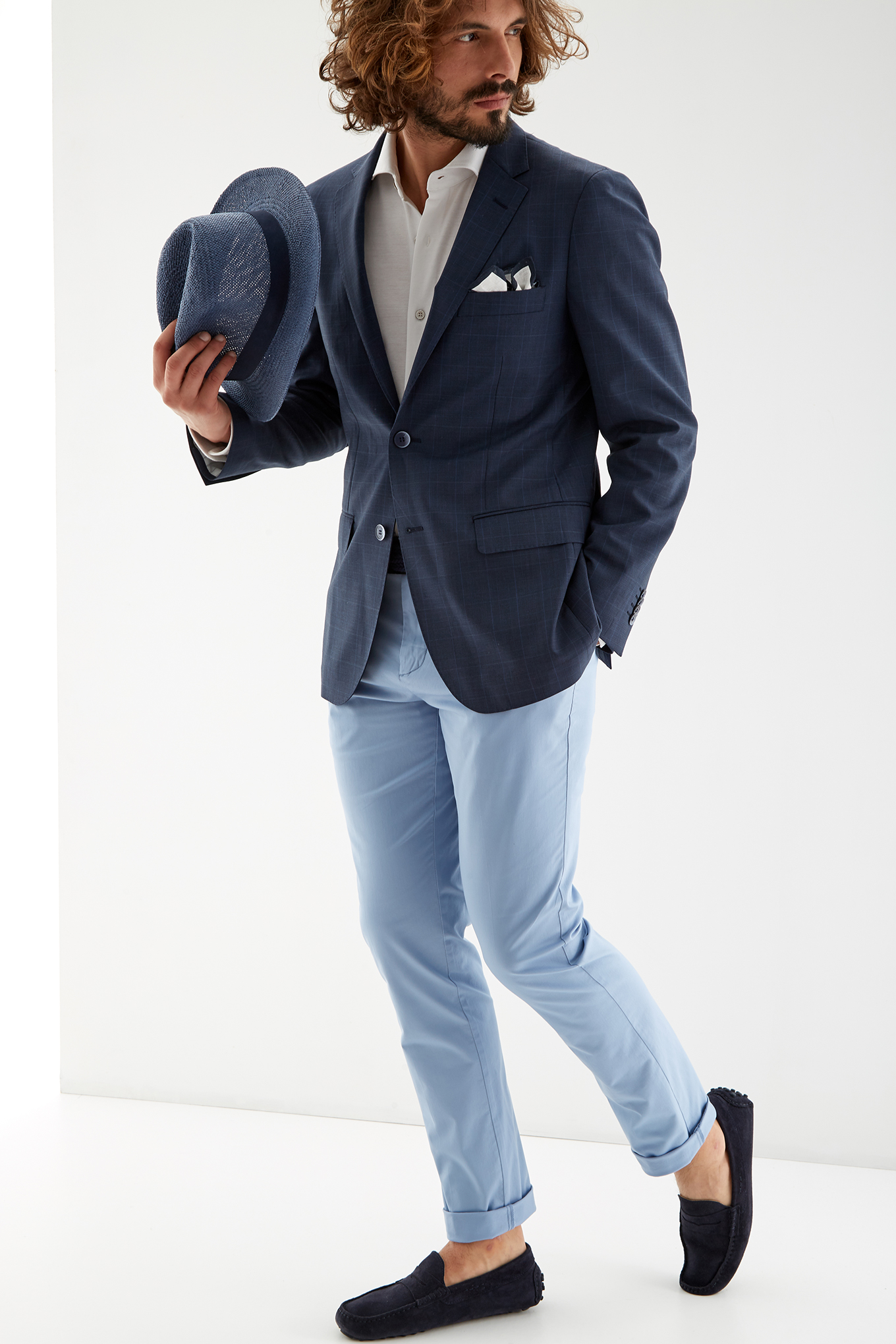Blazer Medium Blue Classic Man