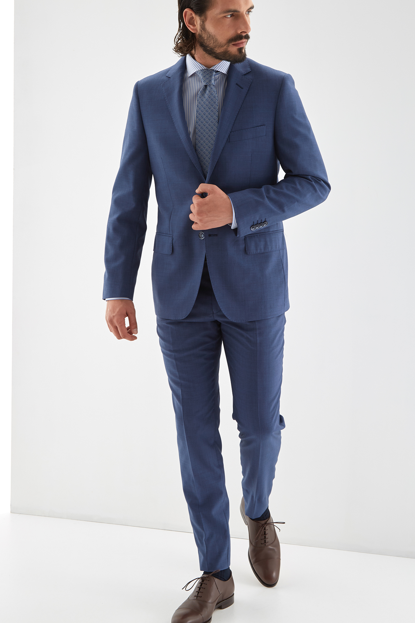Suit Medium Blue Classic Man