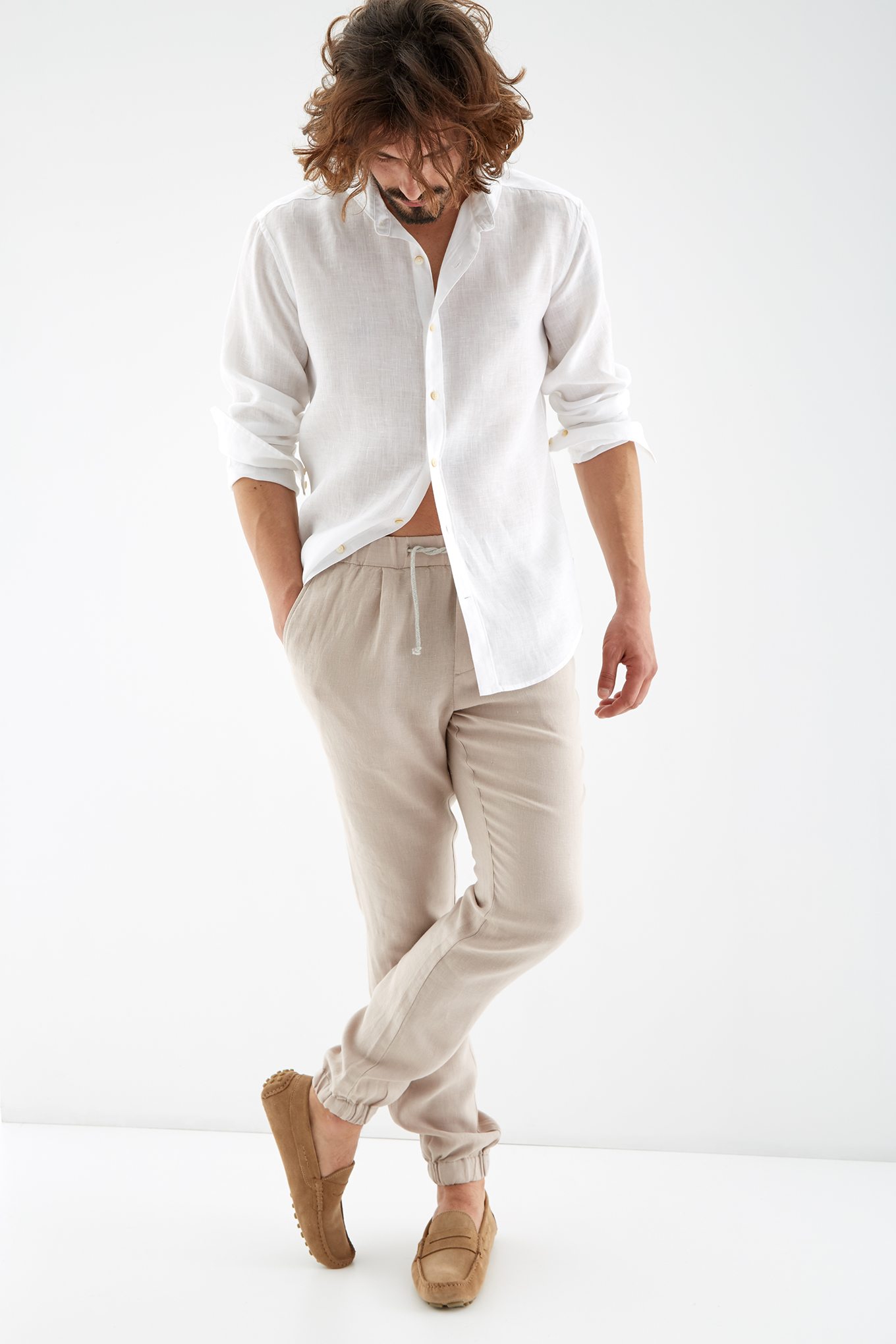 Chino Trousers Sand Sport Man