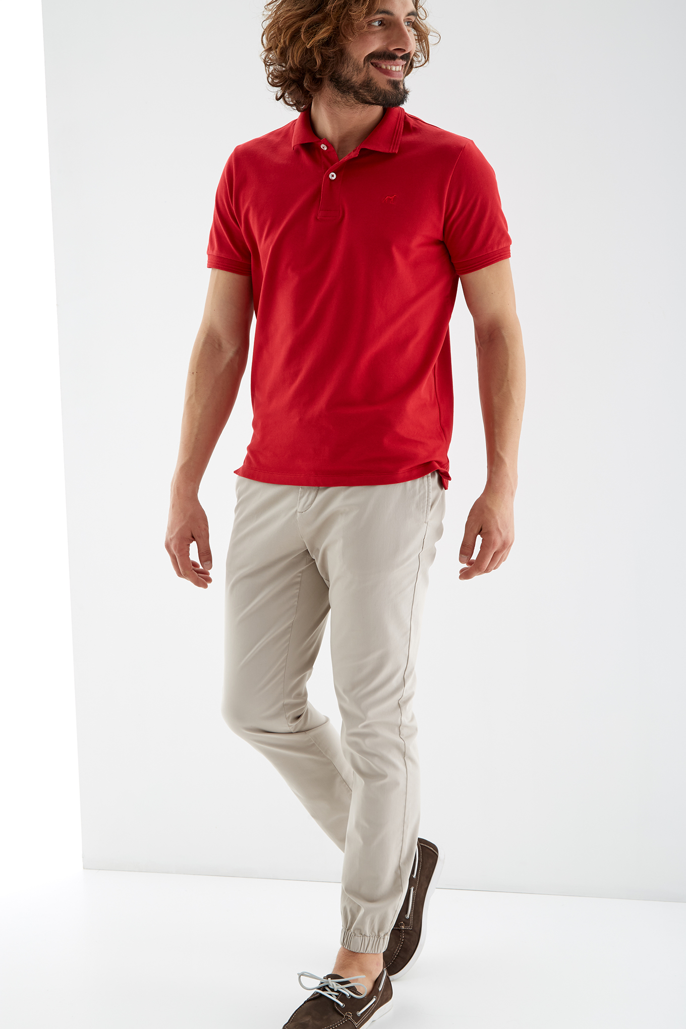 Polo Piquet Red Sport Man
