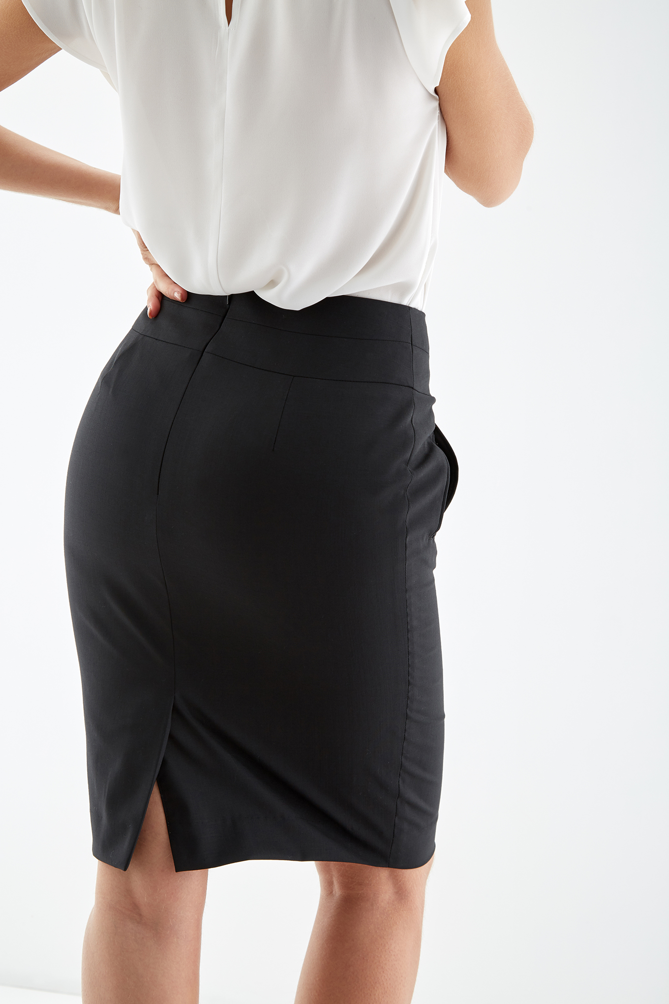 Skirt Black Classic Woman