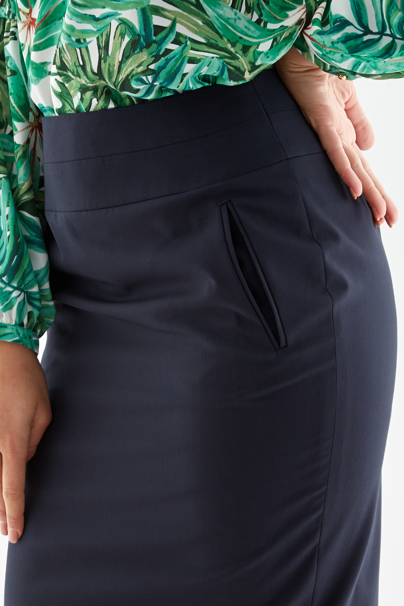 Skirt Dark Blue Classic Woman