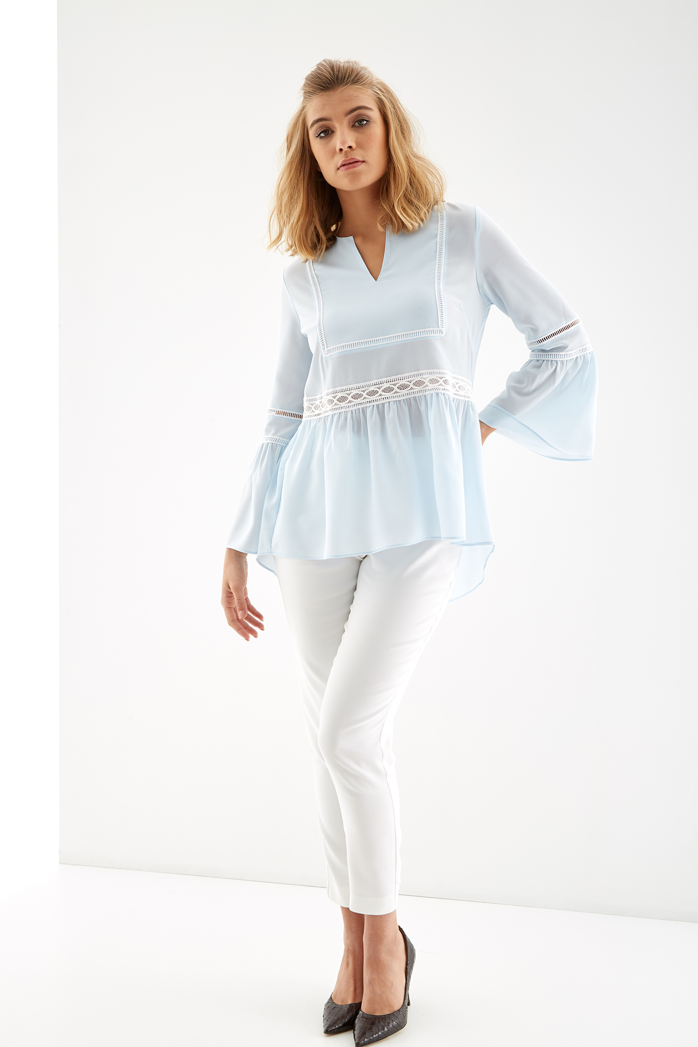 Blouse Light Blue Fantasy Woman