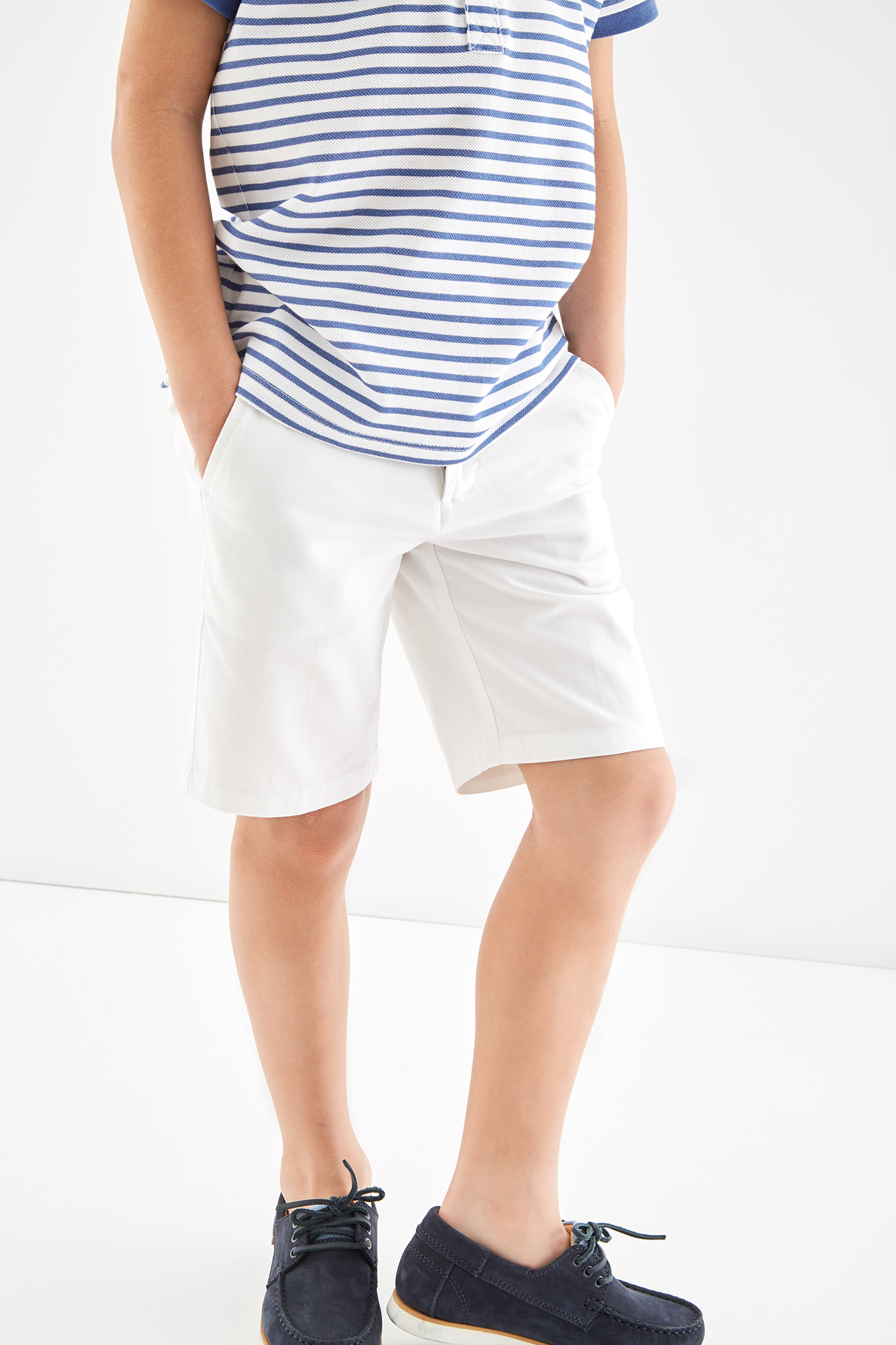 Bermuda White Casual Boy