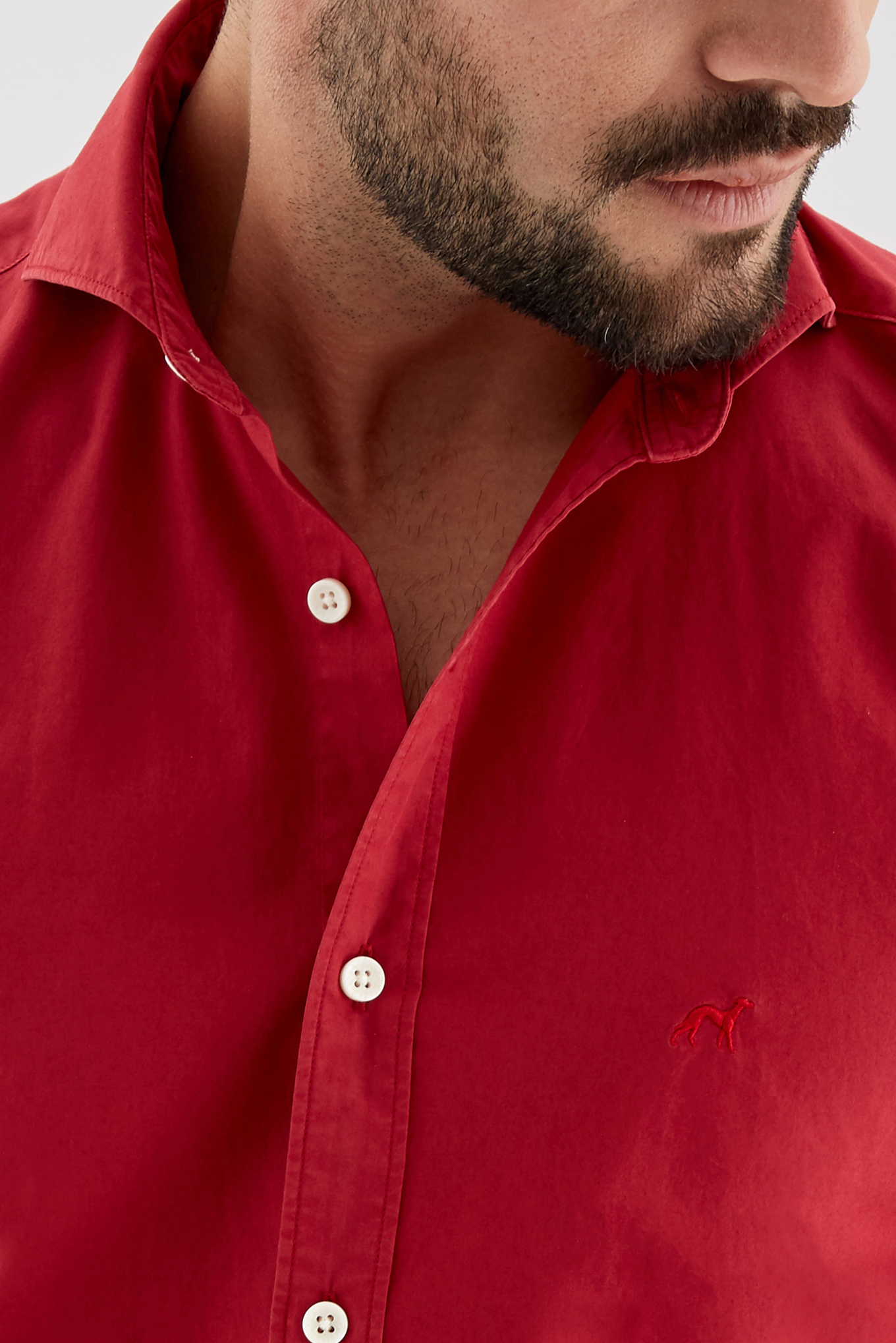 Shirt Red Sport Man