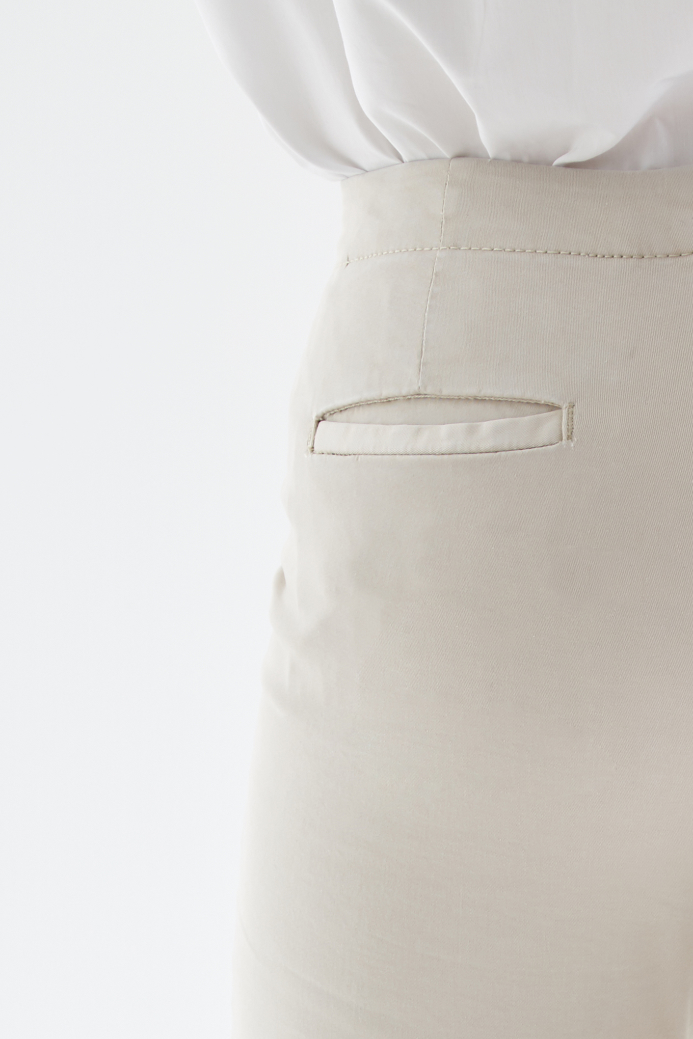 Chino Trousers Stone Casual Woman
