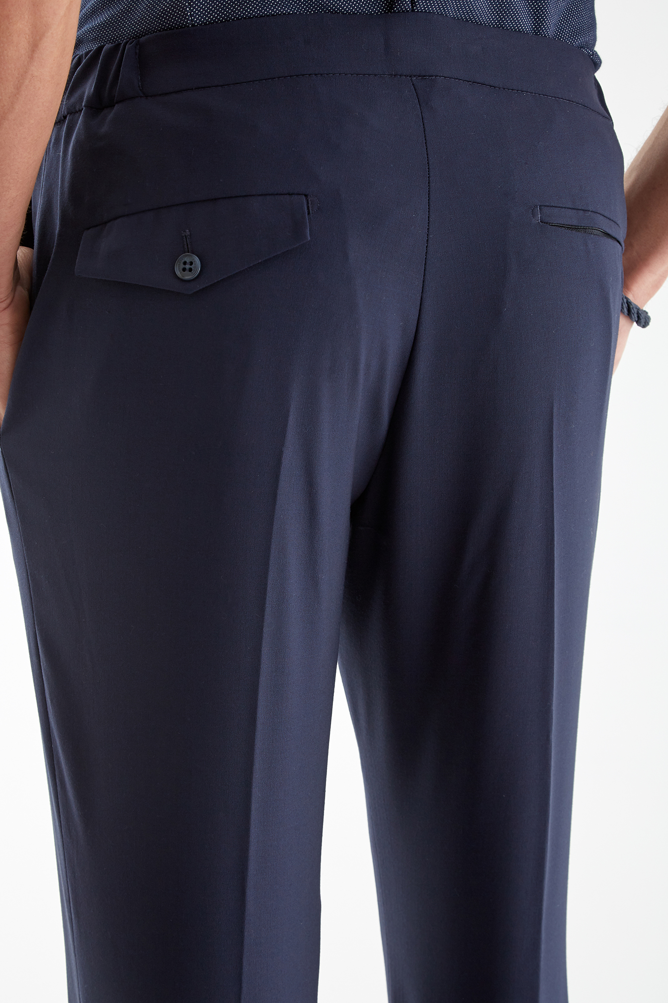 Trousers Dark Blue Classic Man