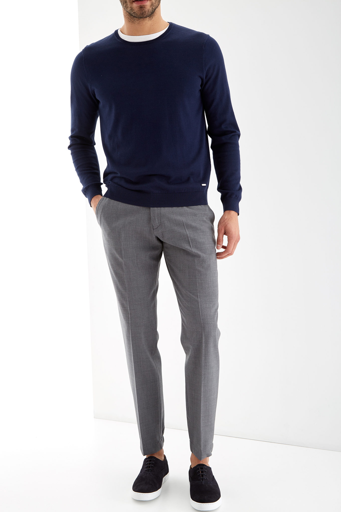 Trousers Medium Grey Classic Man