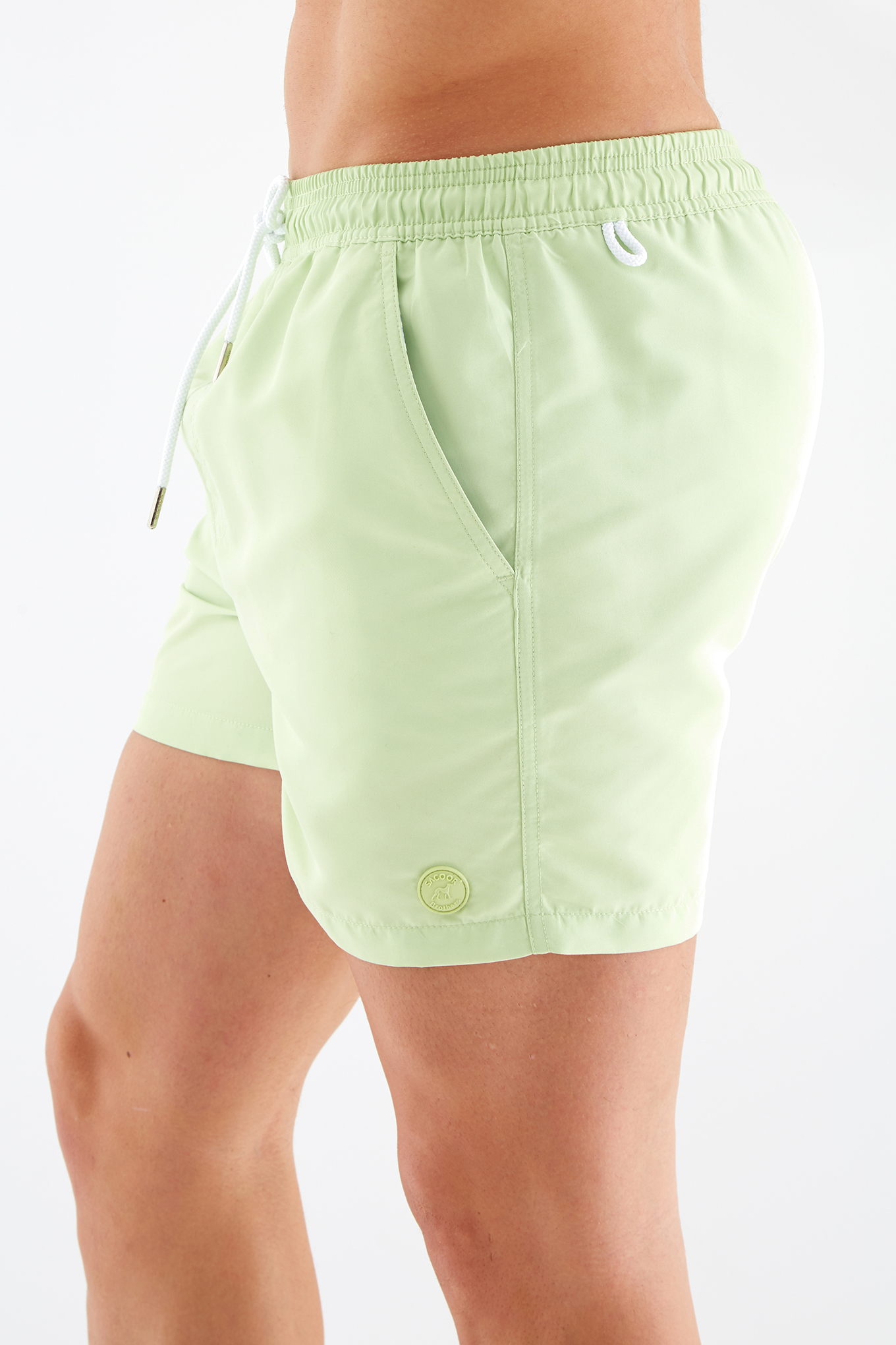 Beachwear Shorts Light Green Sport Man