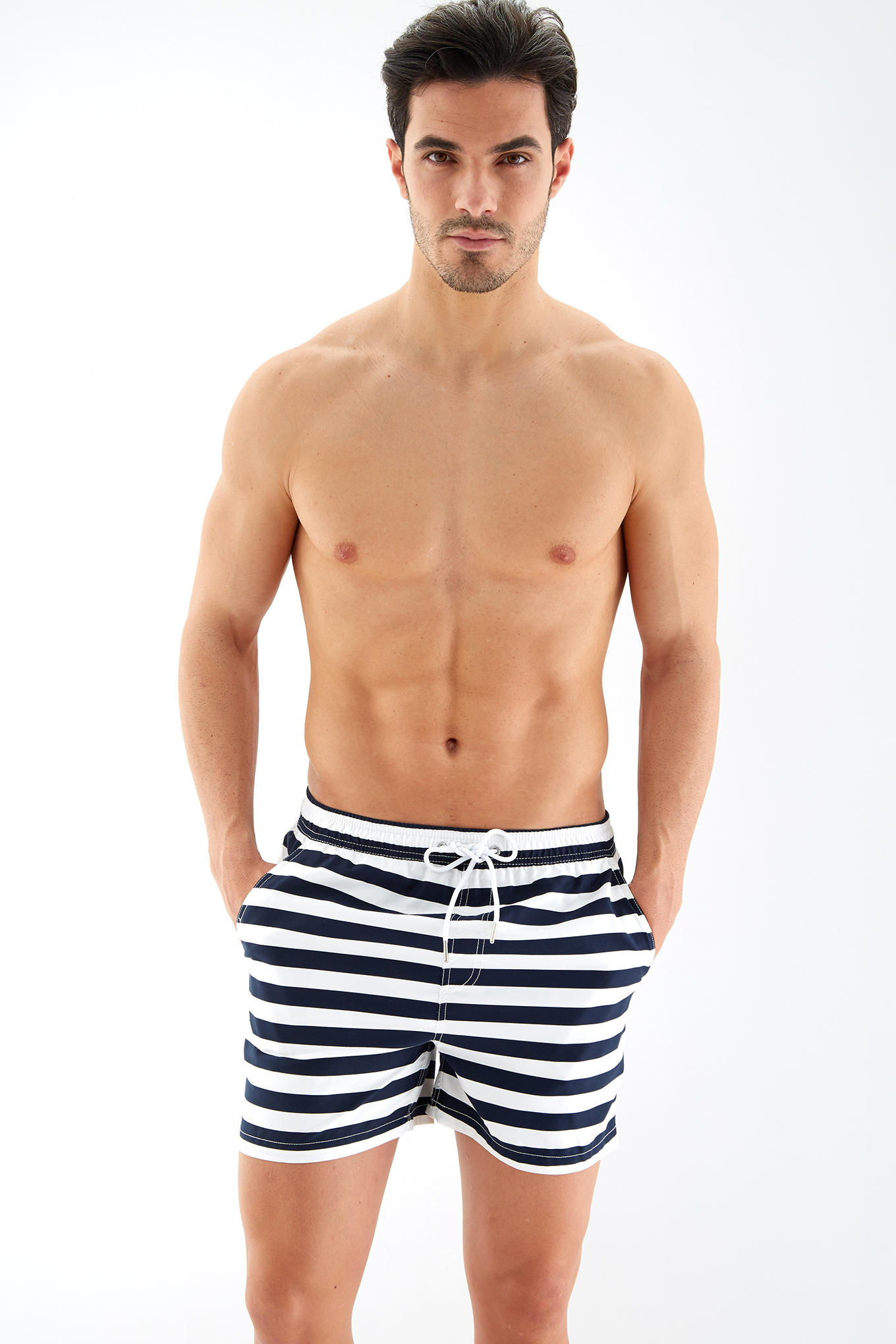 Beachwear Shorts Dark Blue Sport Man