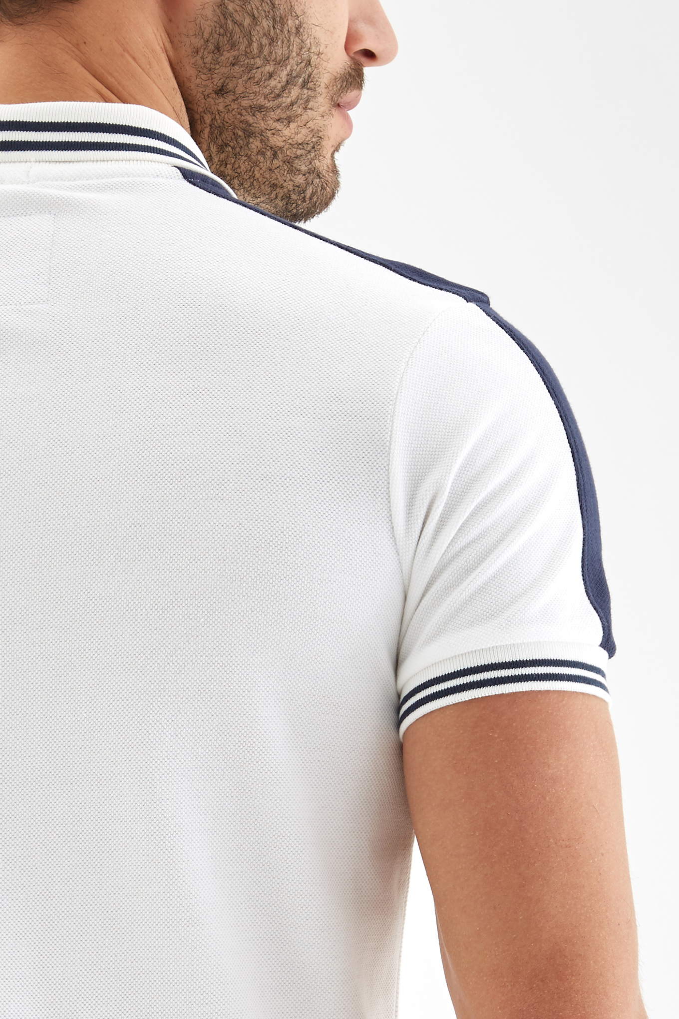 Polo Piquet White Sport Man