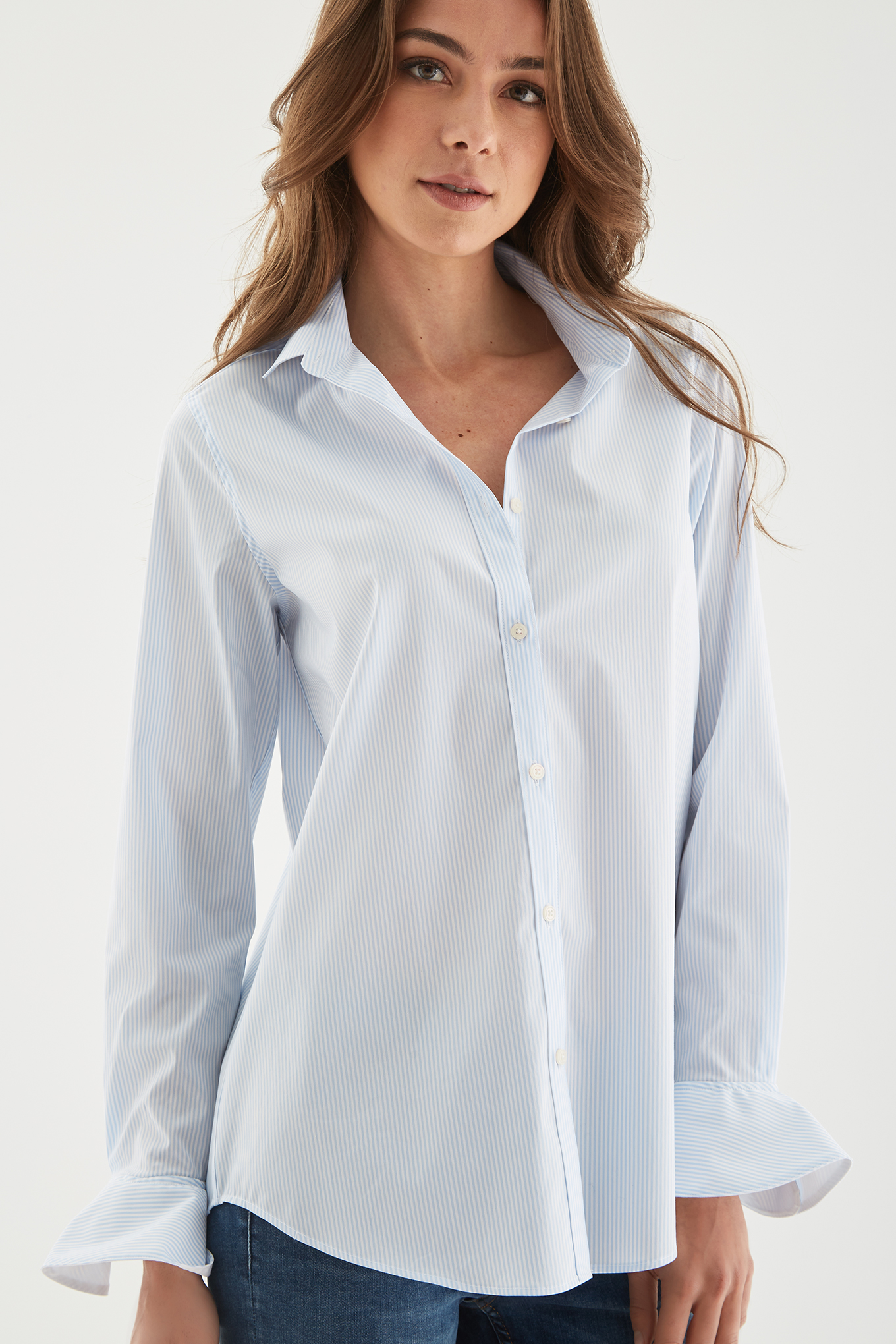 Shirt Stripes Classic Woman