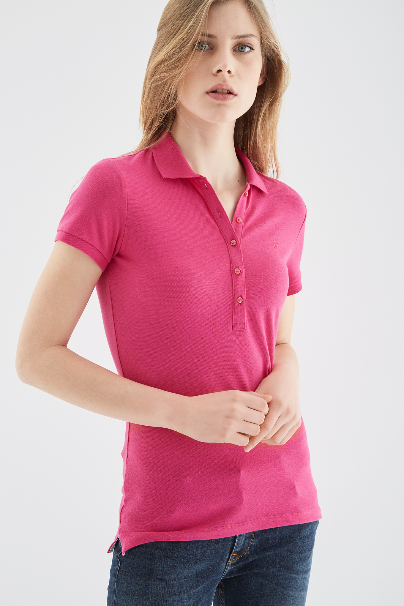 Polo Piquet Fuchsia Sport Woman