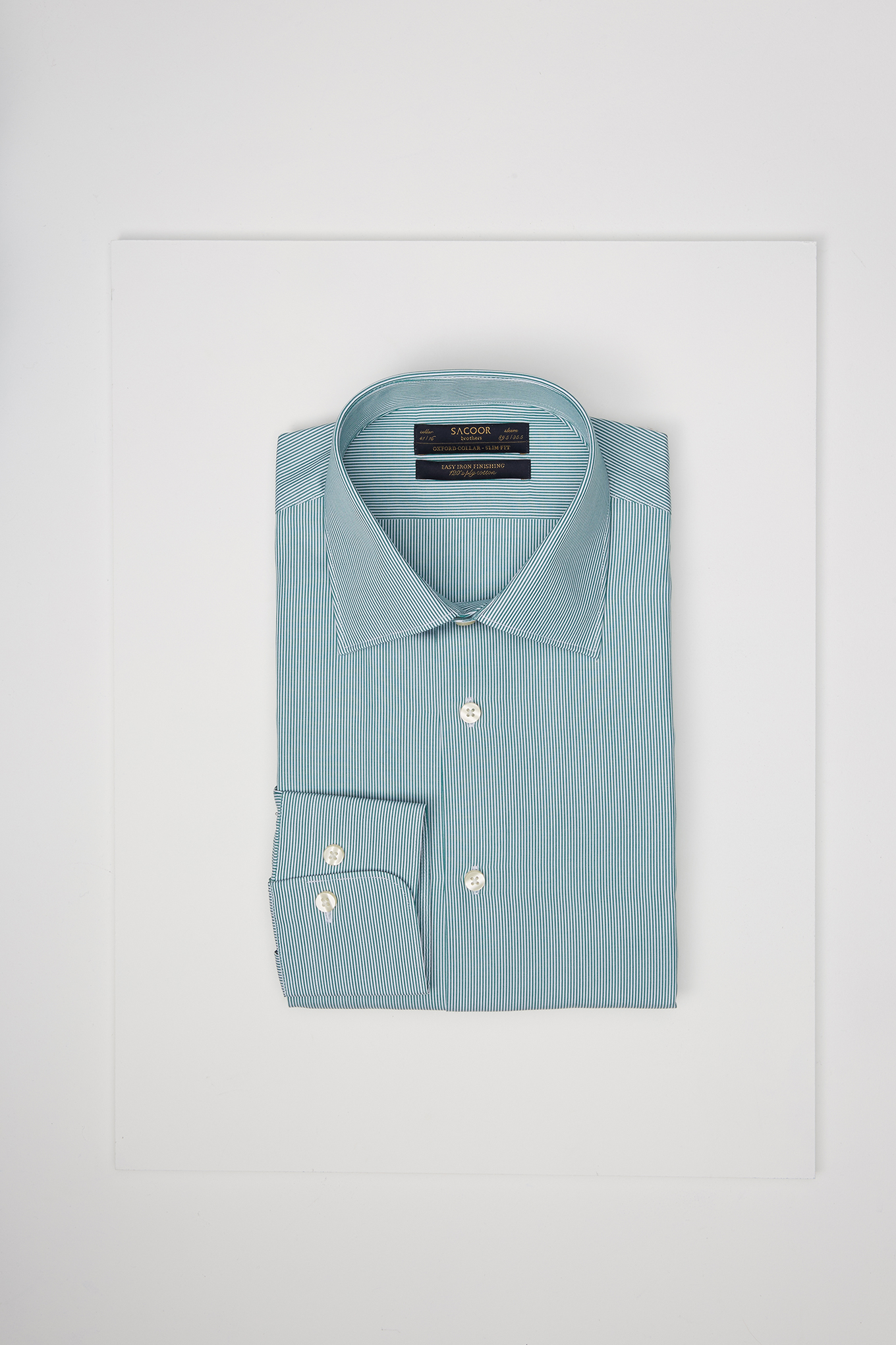 Shirt Green Classic Man