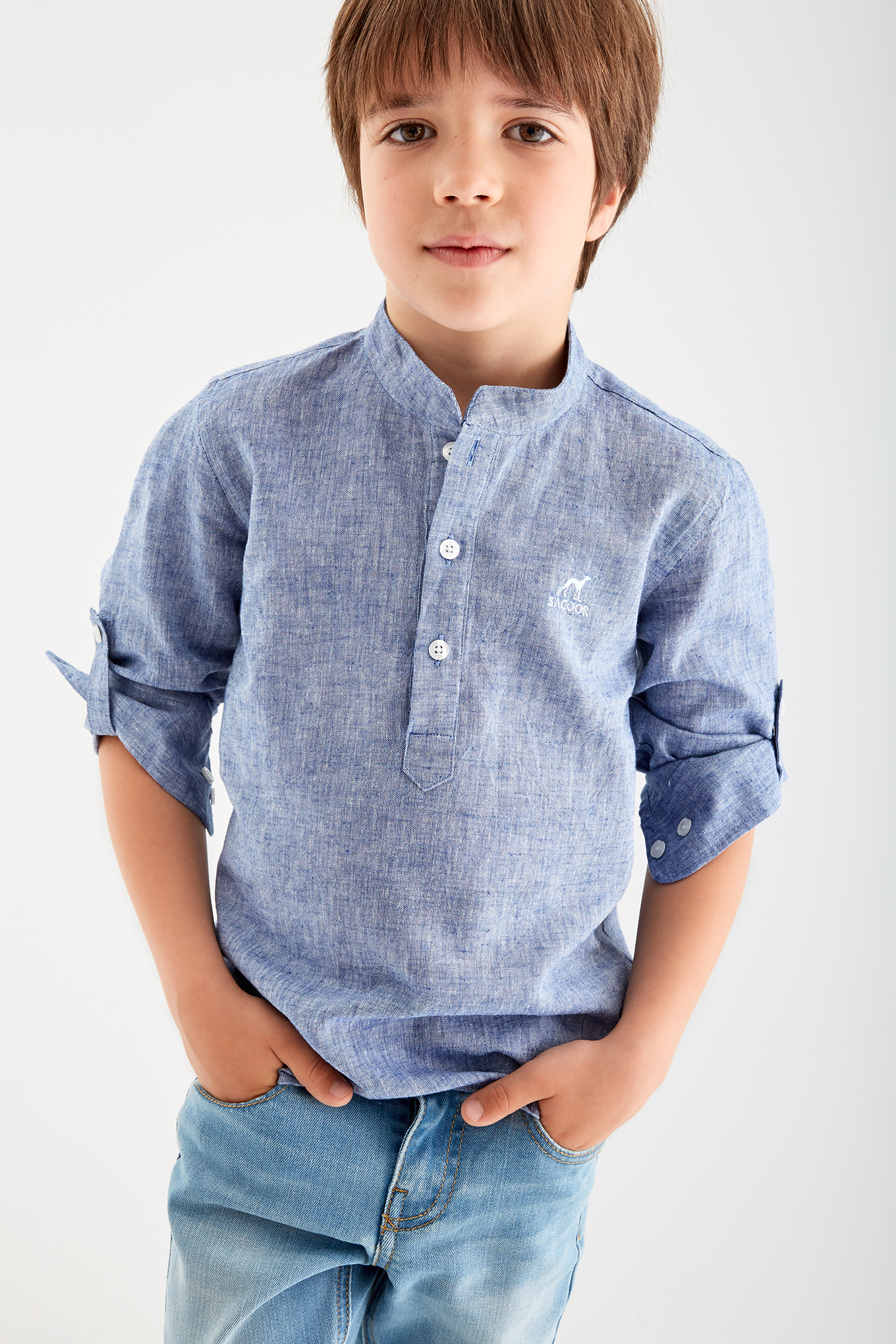 Shirt Dark Blue Casual Boy