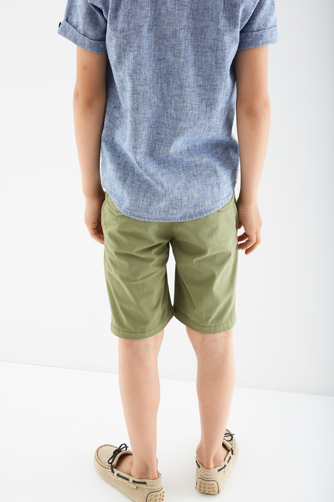 Bermuda Green Casual Boy