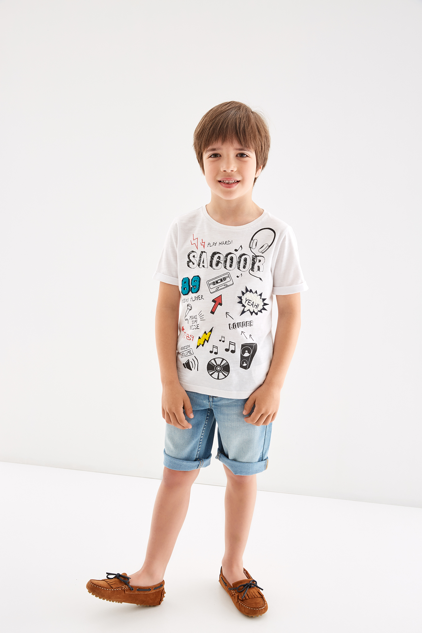 T-Shirt White Sport Boy