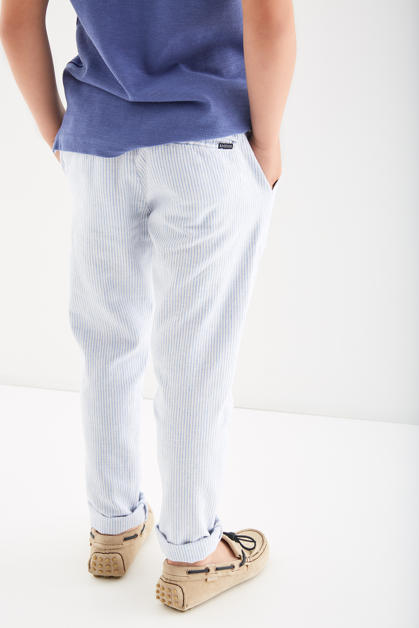 Chino Trousers Stripes Casual Boy