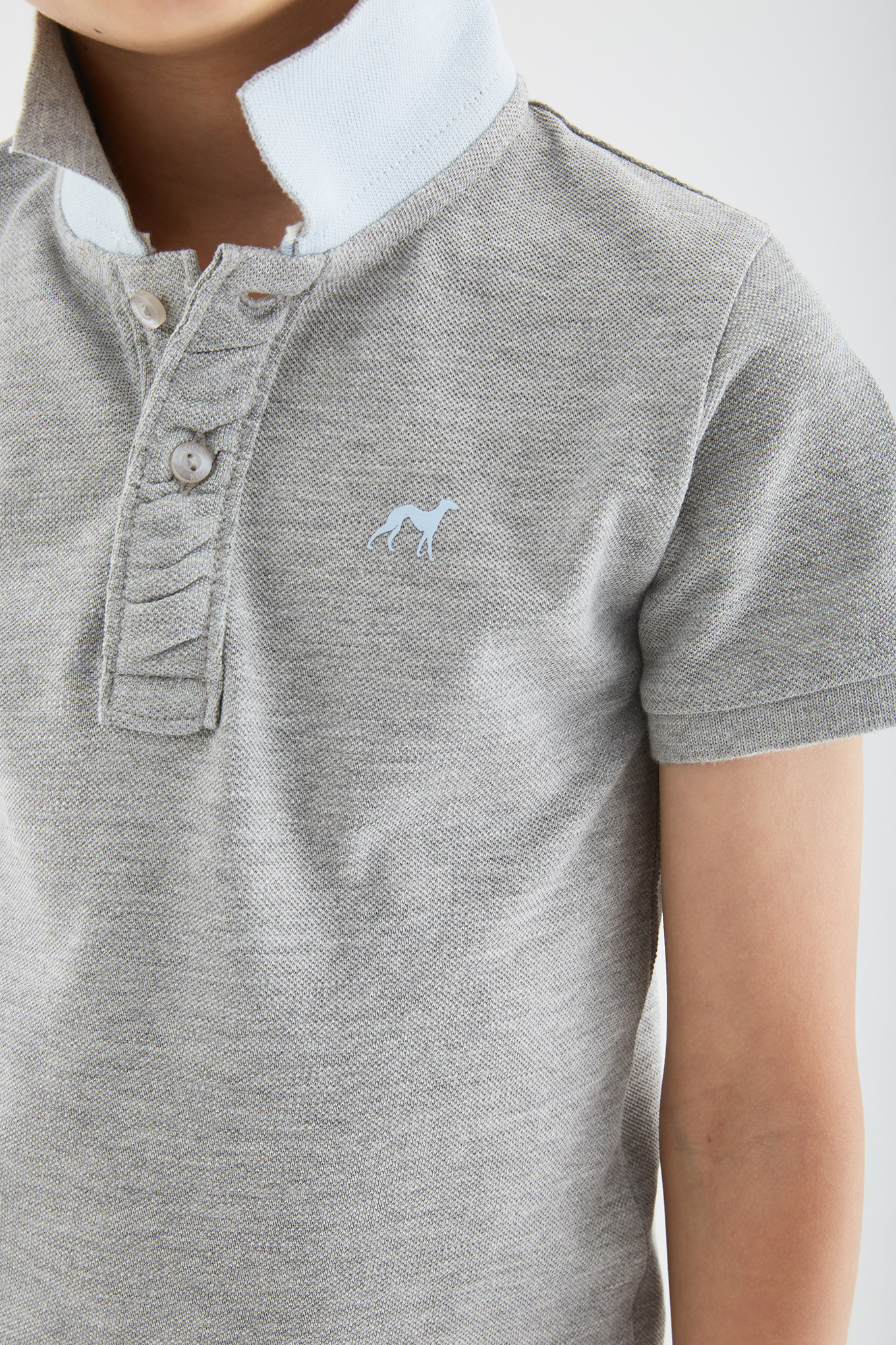 Polo Piquet Mix Grey Sport Boy