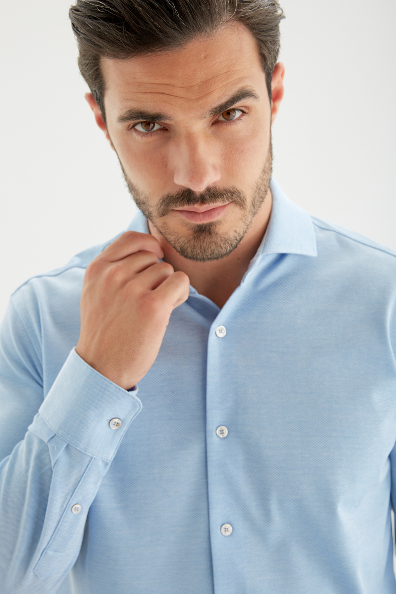 Shirt Medium Blue Casual Man