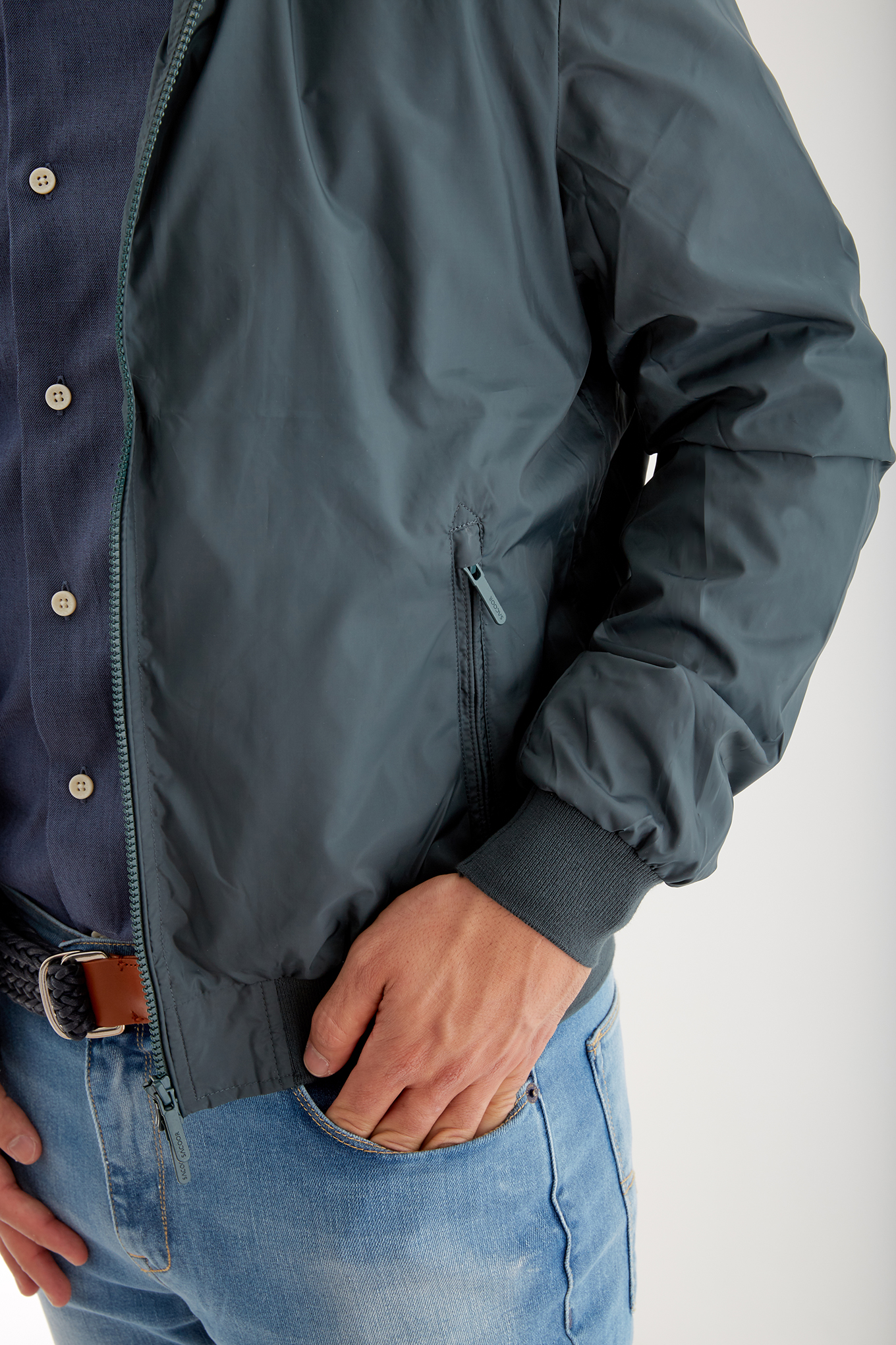 Jacket Dark Green Casual Man