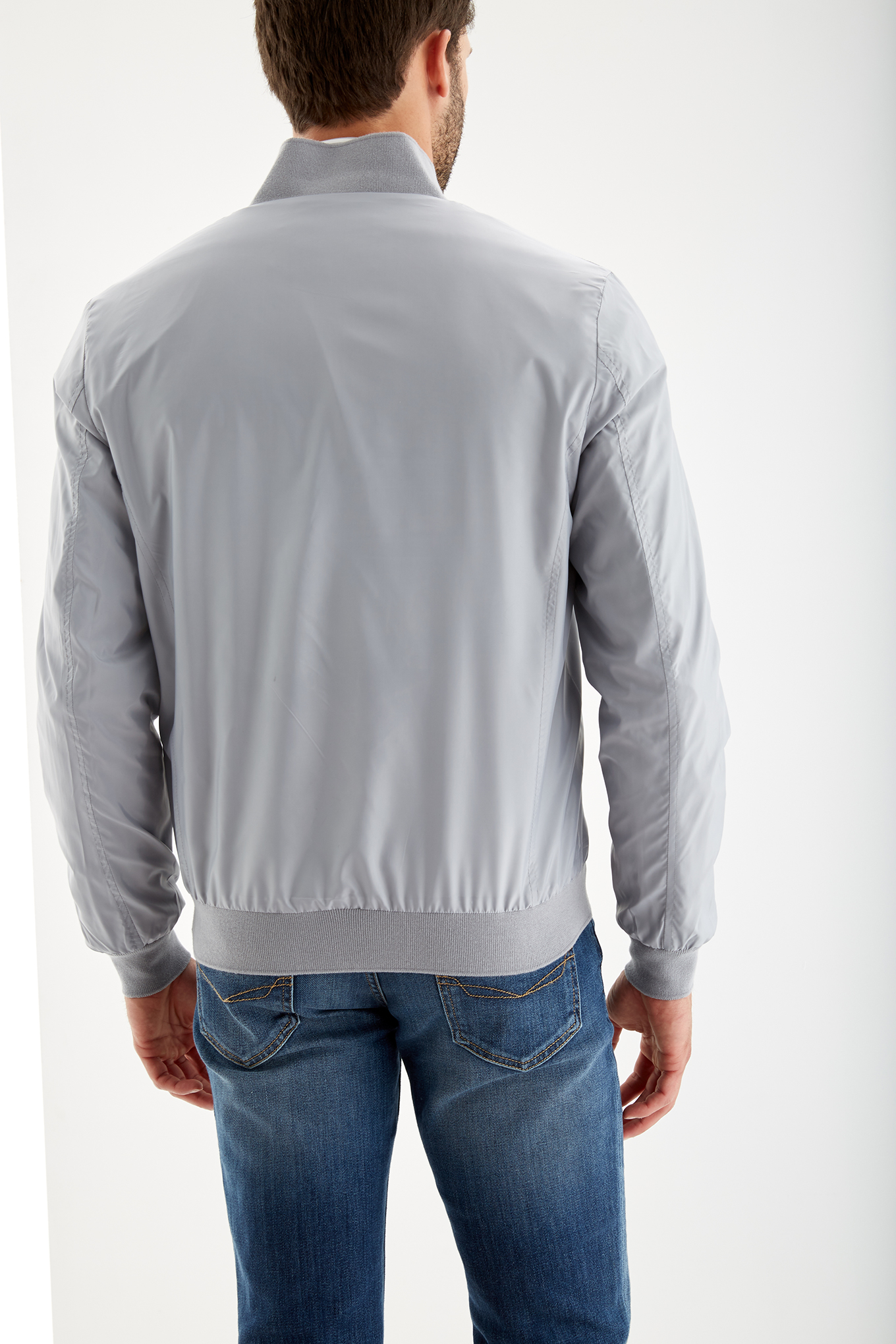 Jacket Light Grey Casual Man
