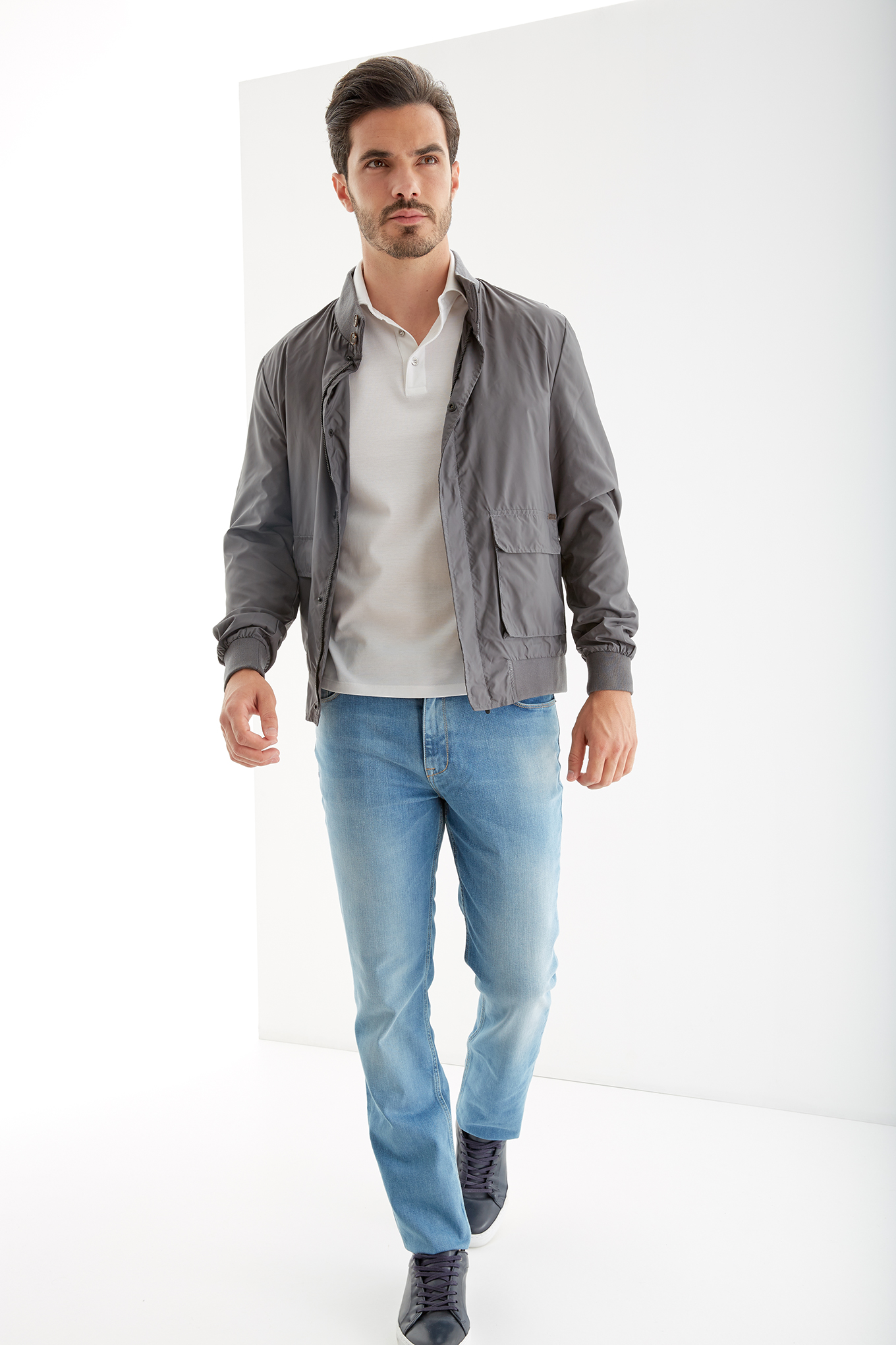 Jacket Dark Grey Casual Man