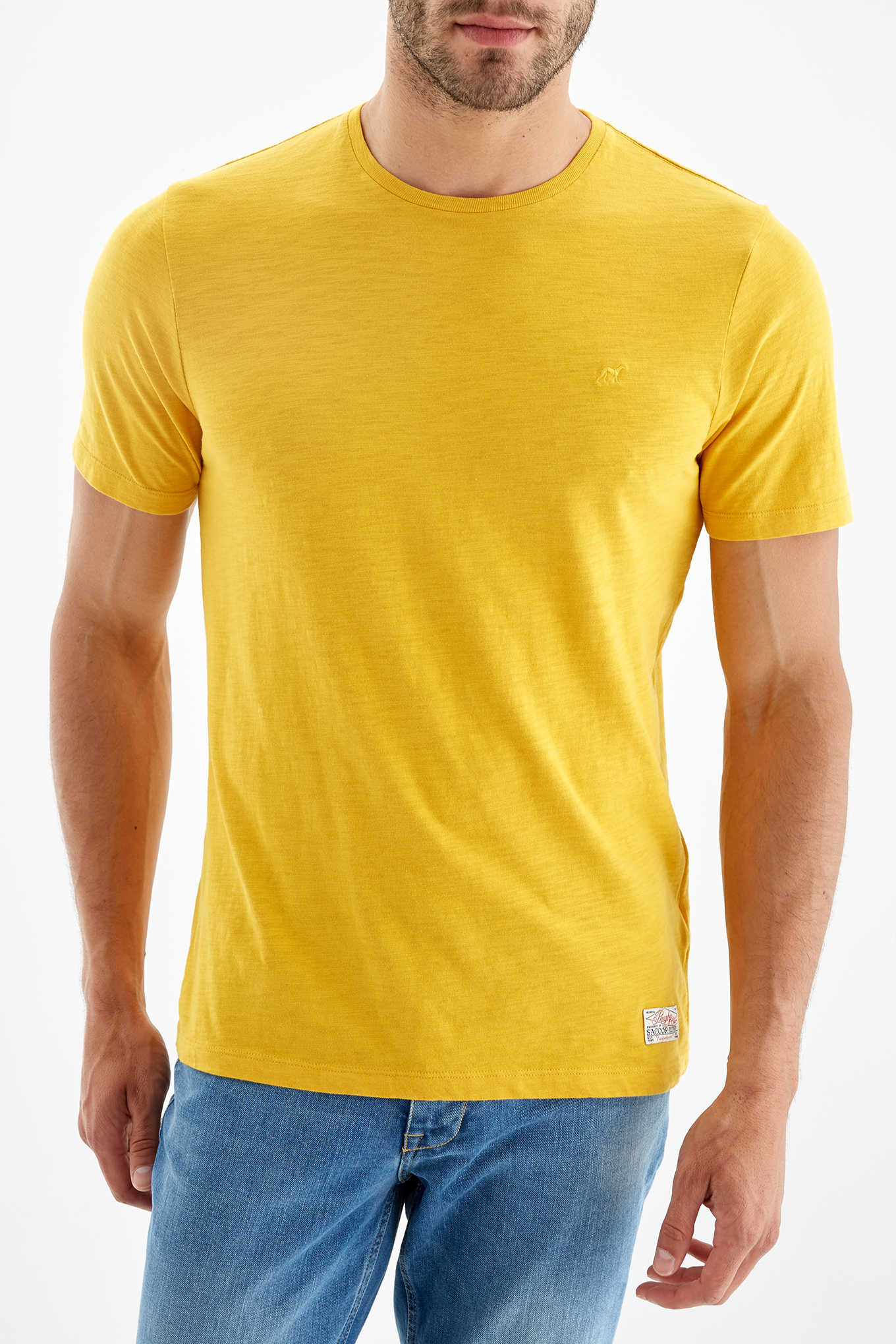 T-Shirt Yellow Sport Man