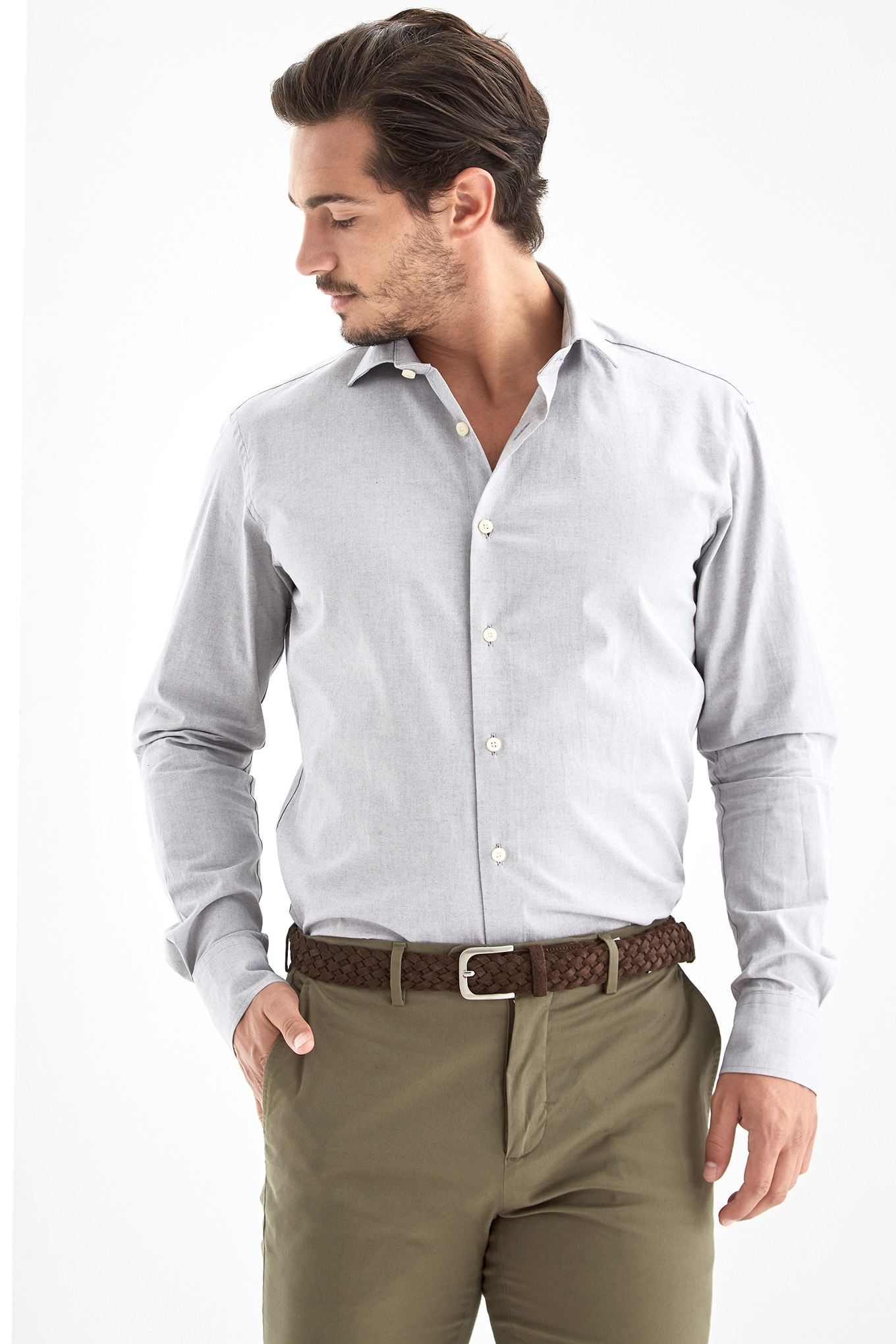 Shirt Grey Sport Man