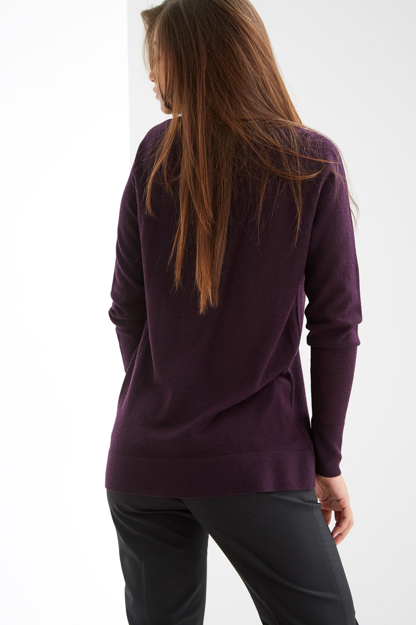 Sweater Plum Casual Woman