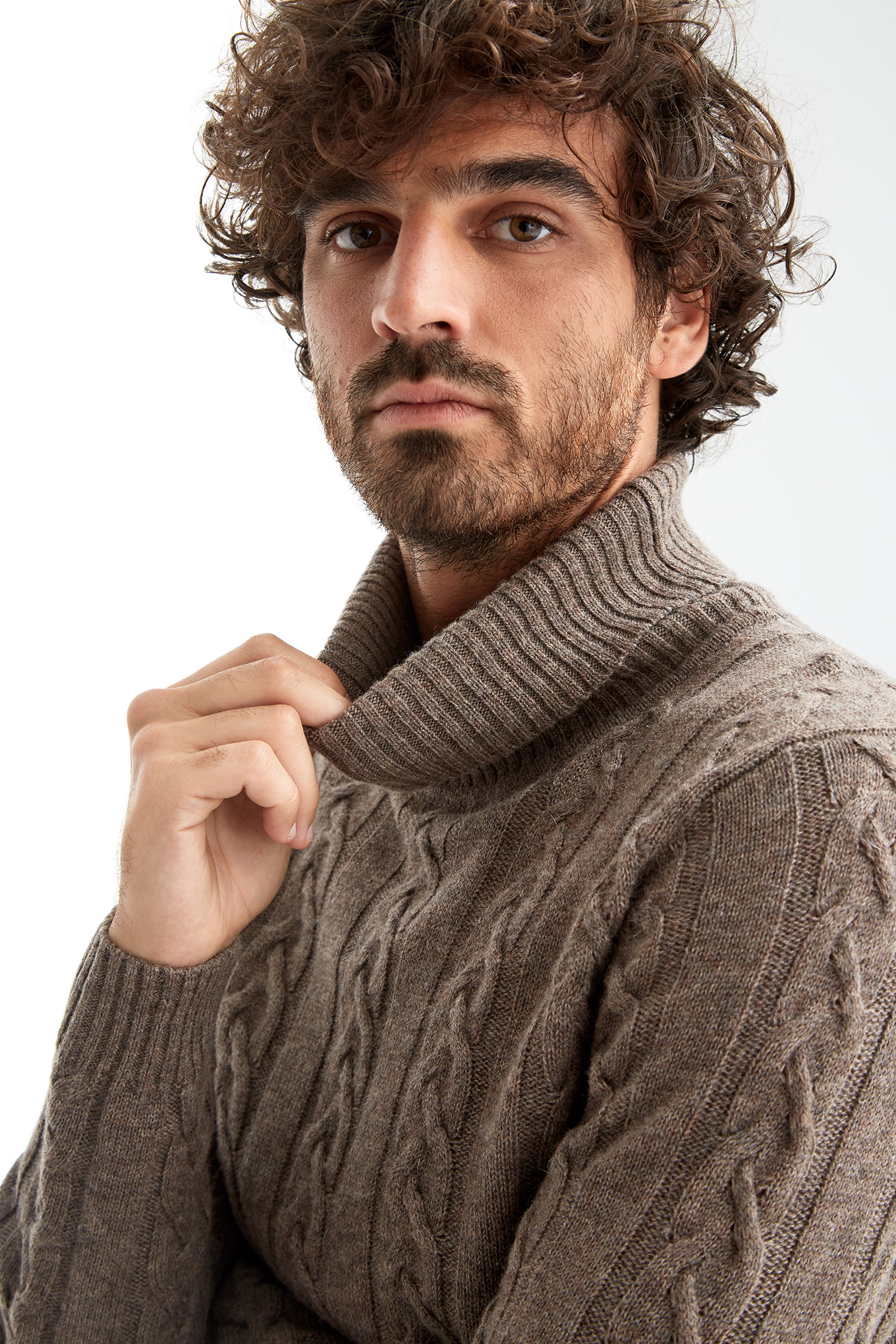 Sweater Dark Beige Casual Man
