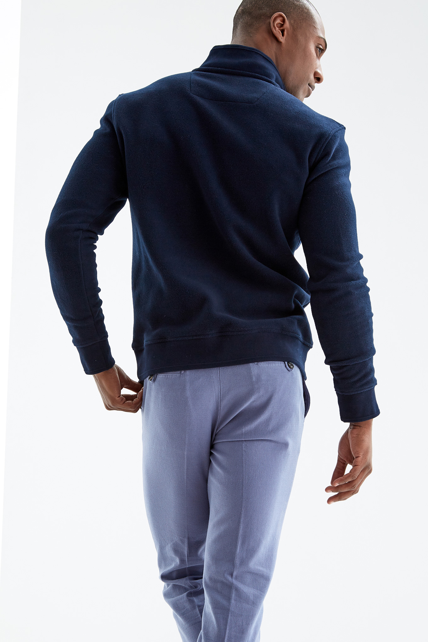 Polar Fleece Dark Blue Sport Man