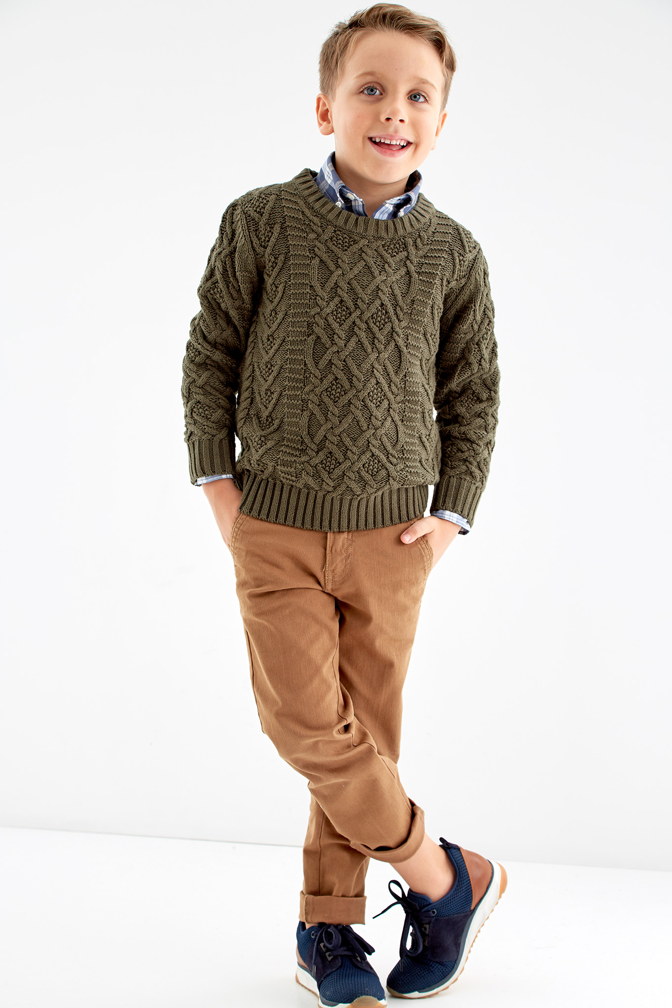 Sweater Khaki Casual Boy