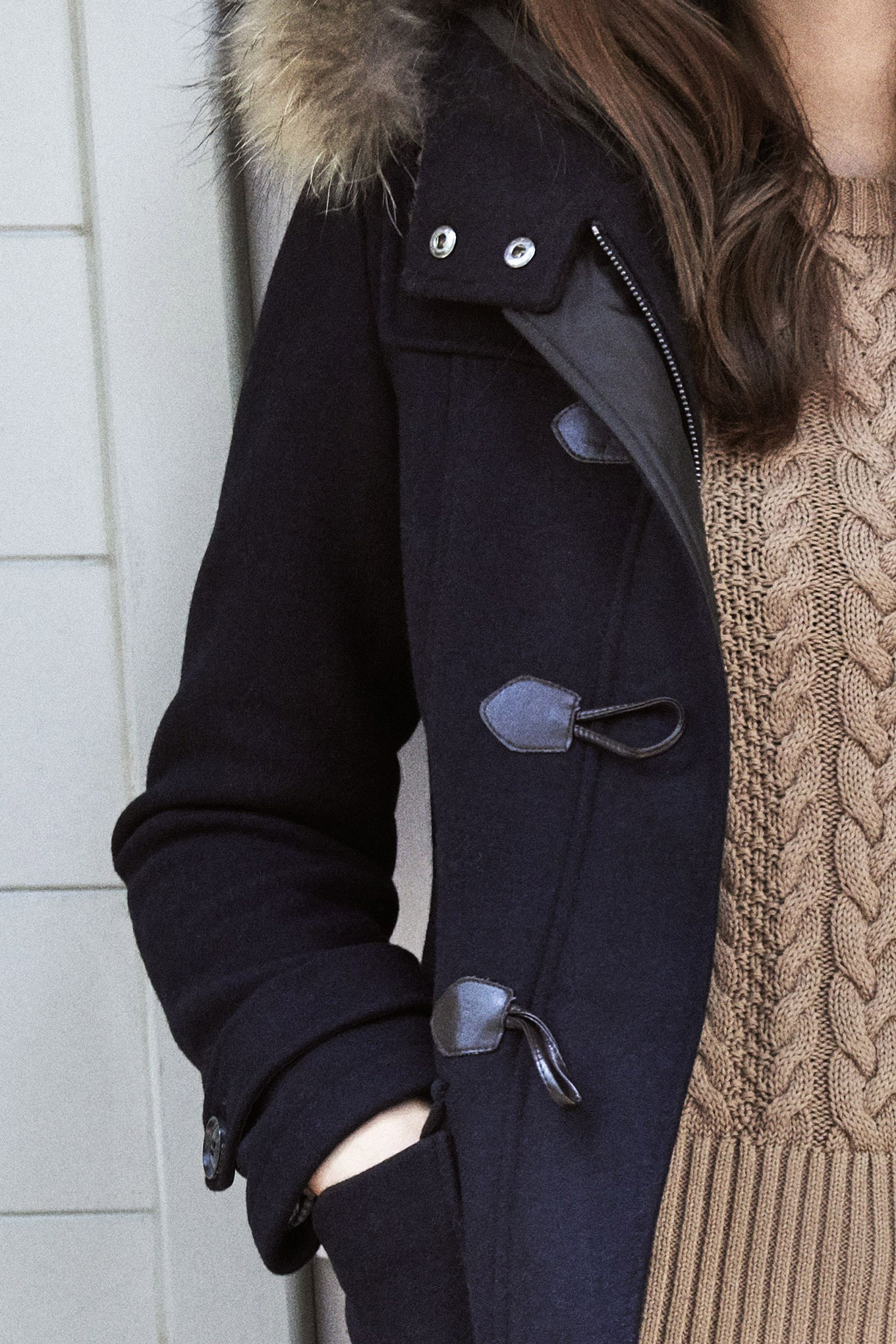 Coat Dark Blue Casual Woman
