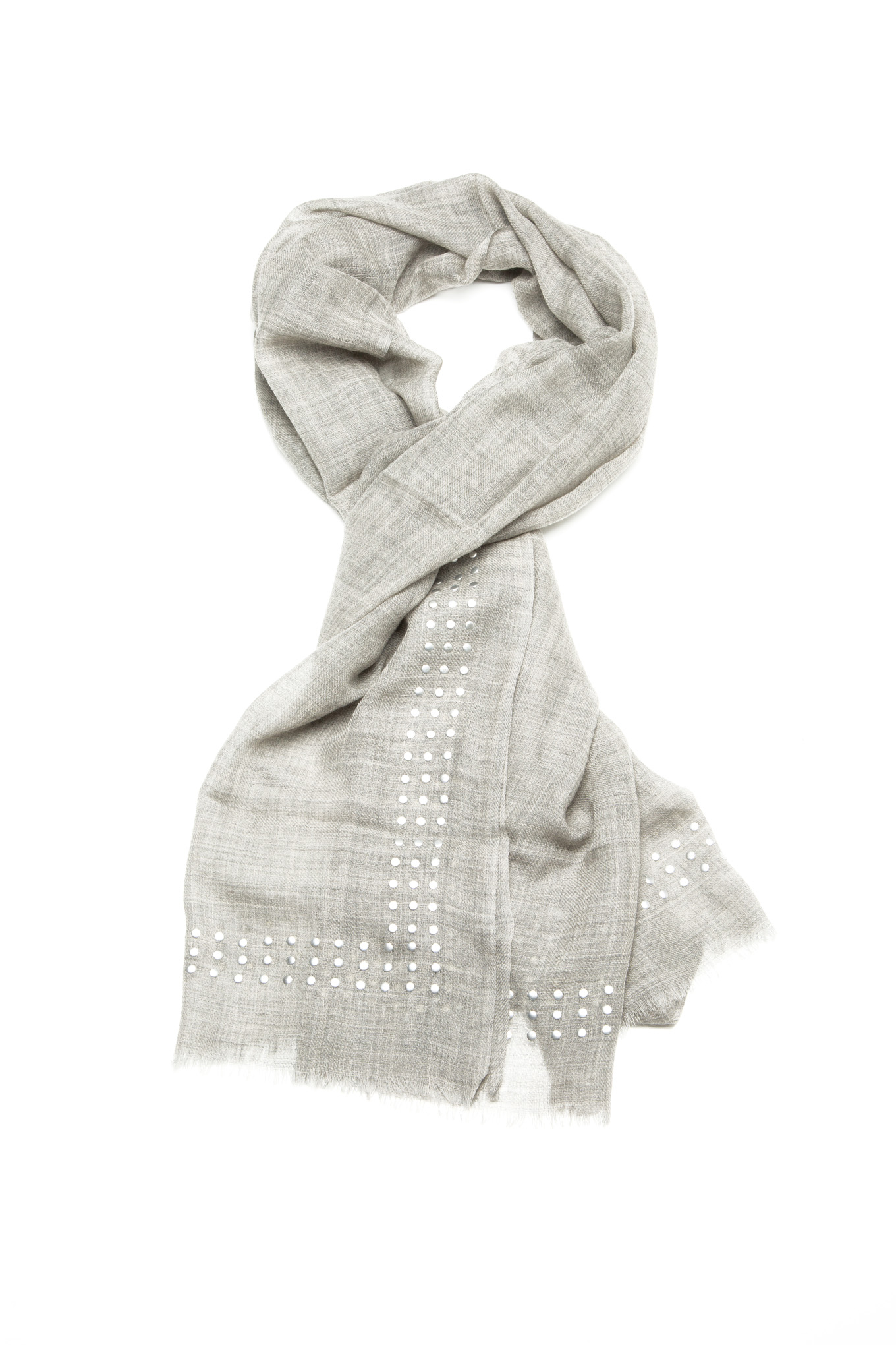 Scarf Mix Grey Casual Woman