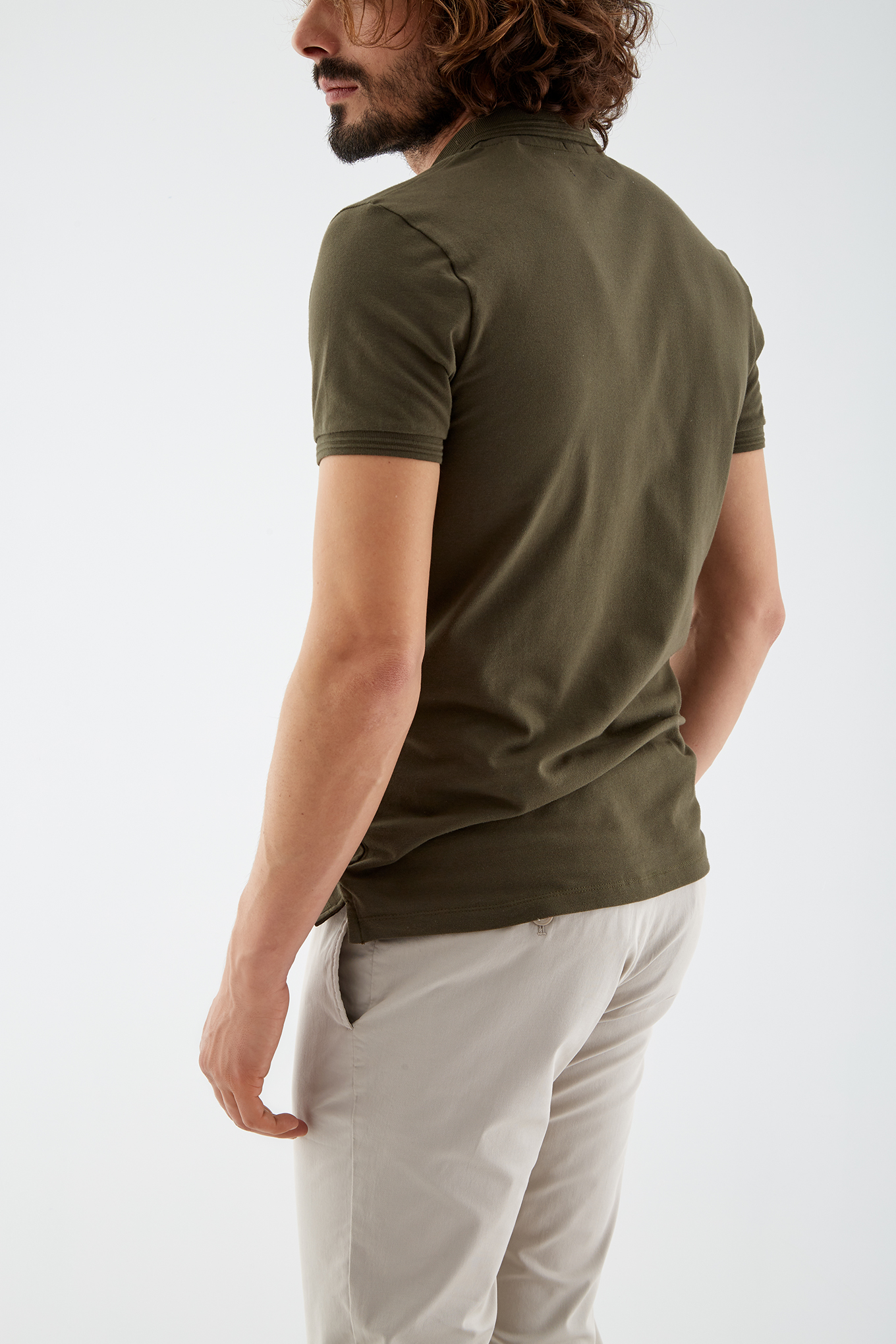 Polo Piquet Khaki Sport Man