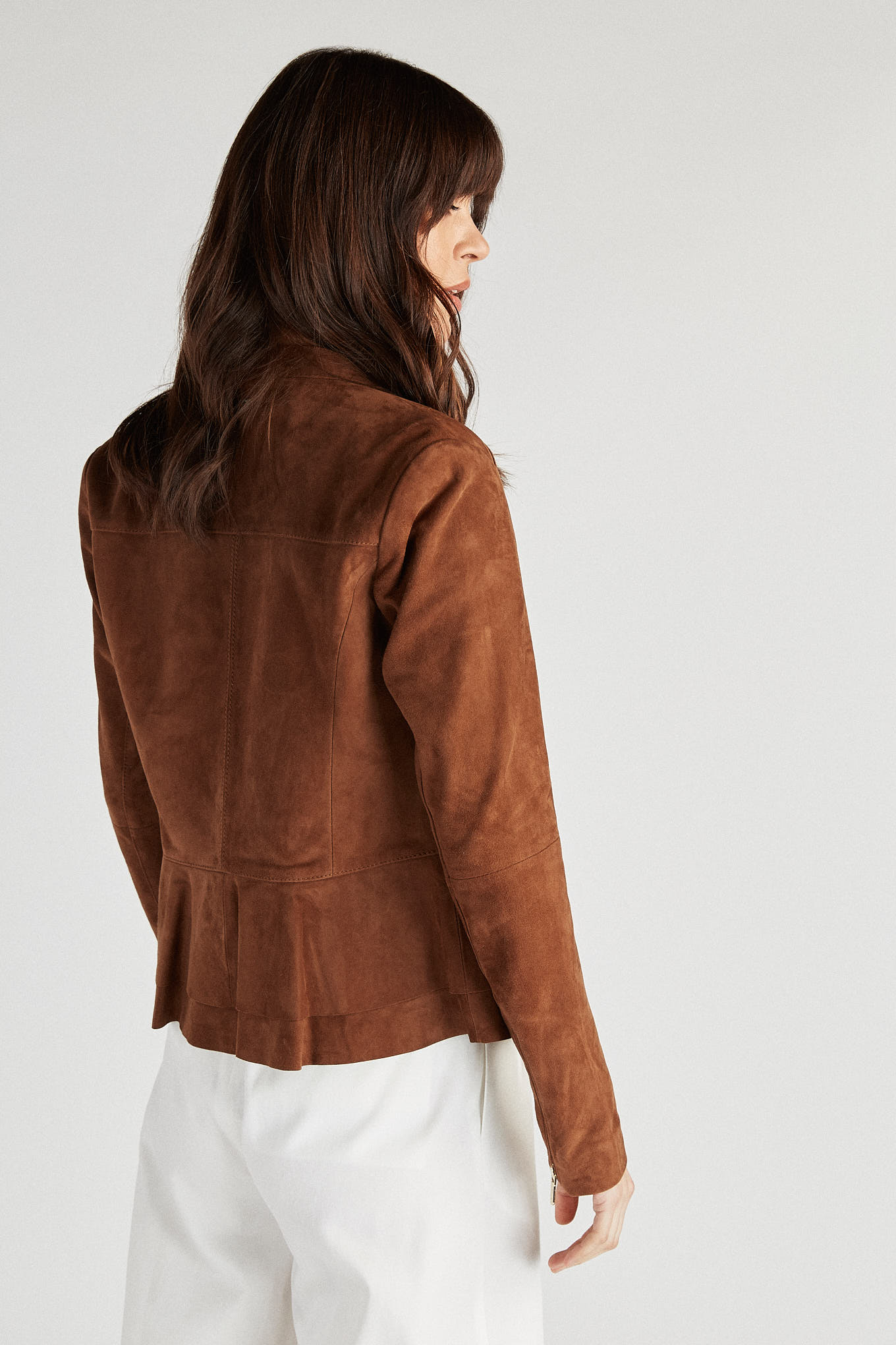 Leather Jacket Camel Sport Woman