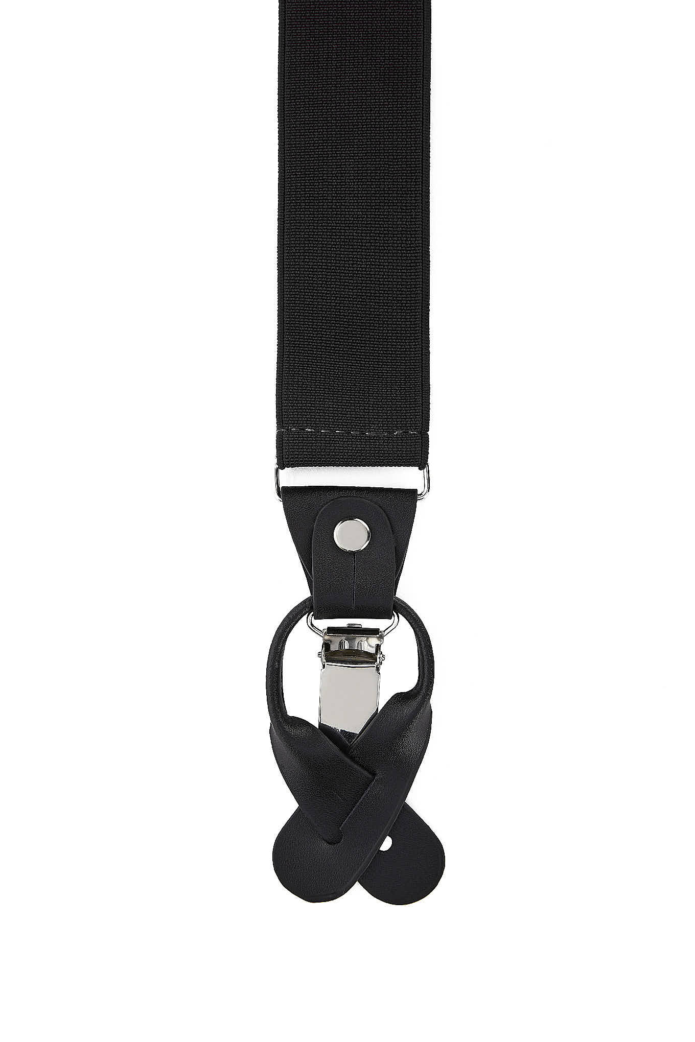 Suspenders Black Casual Man