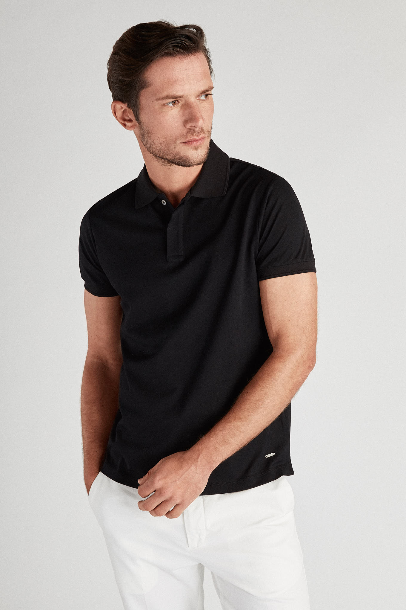 Polo Piquet Black Sport Man