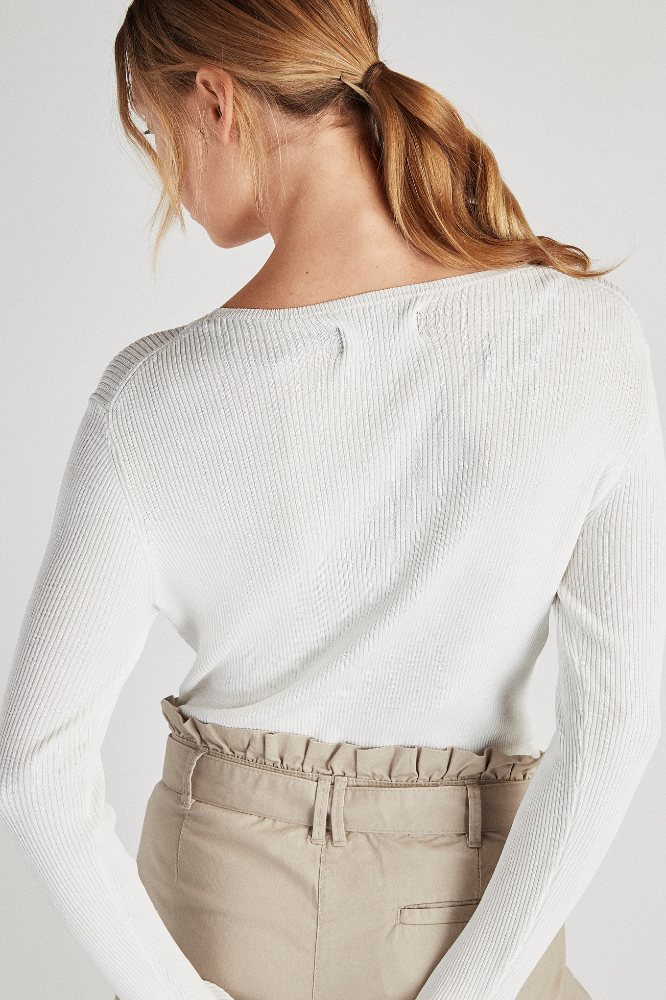 Sweater White Casual Woman