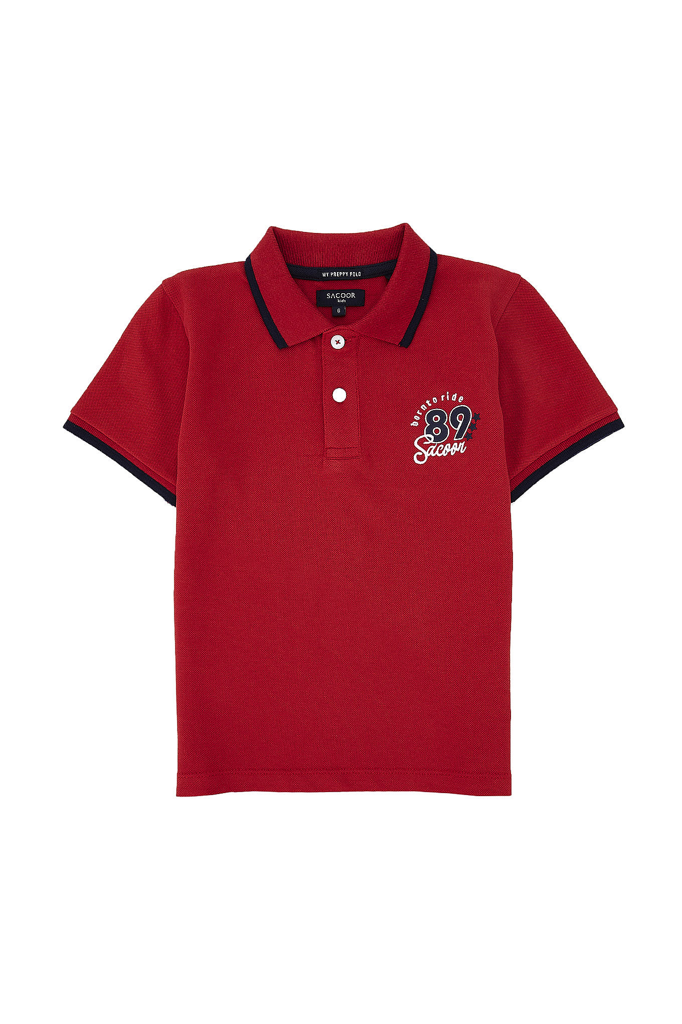 Polo Piquet Red Sport Boy