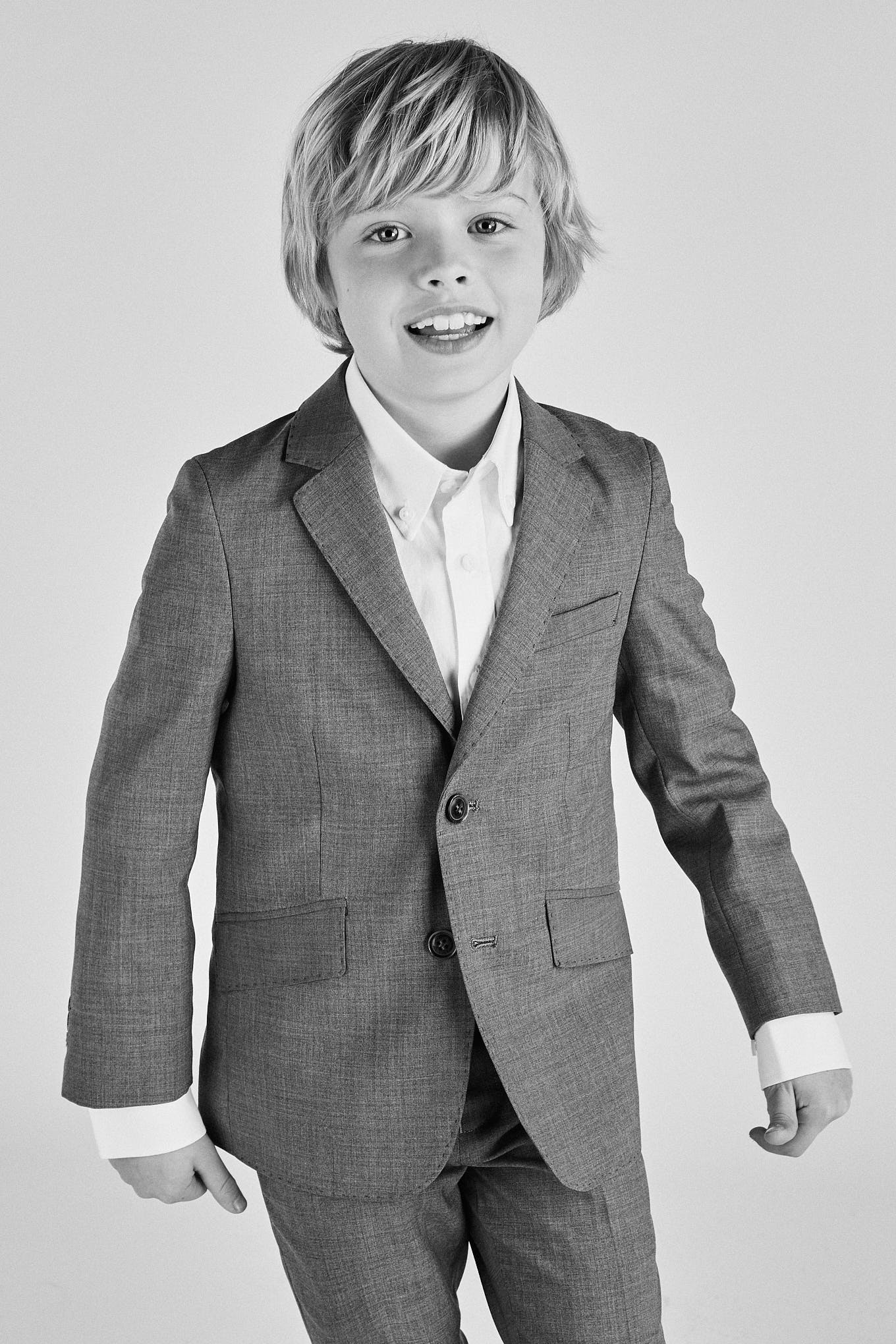 Suit Medium Grey Classic Boy