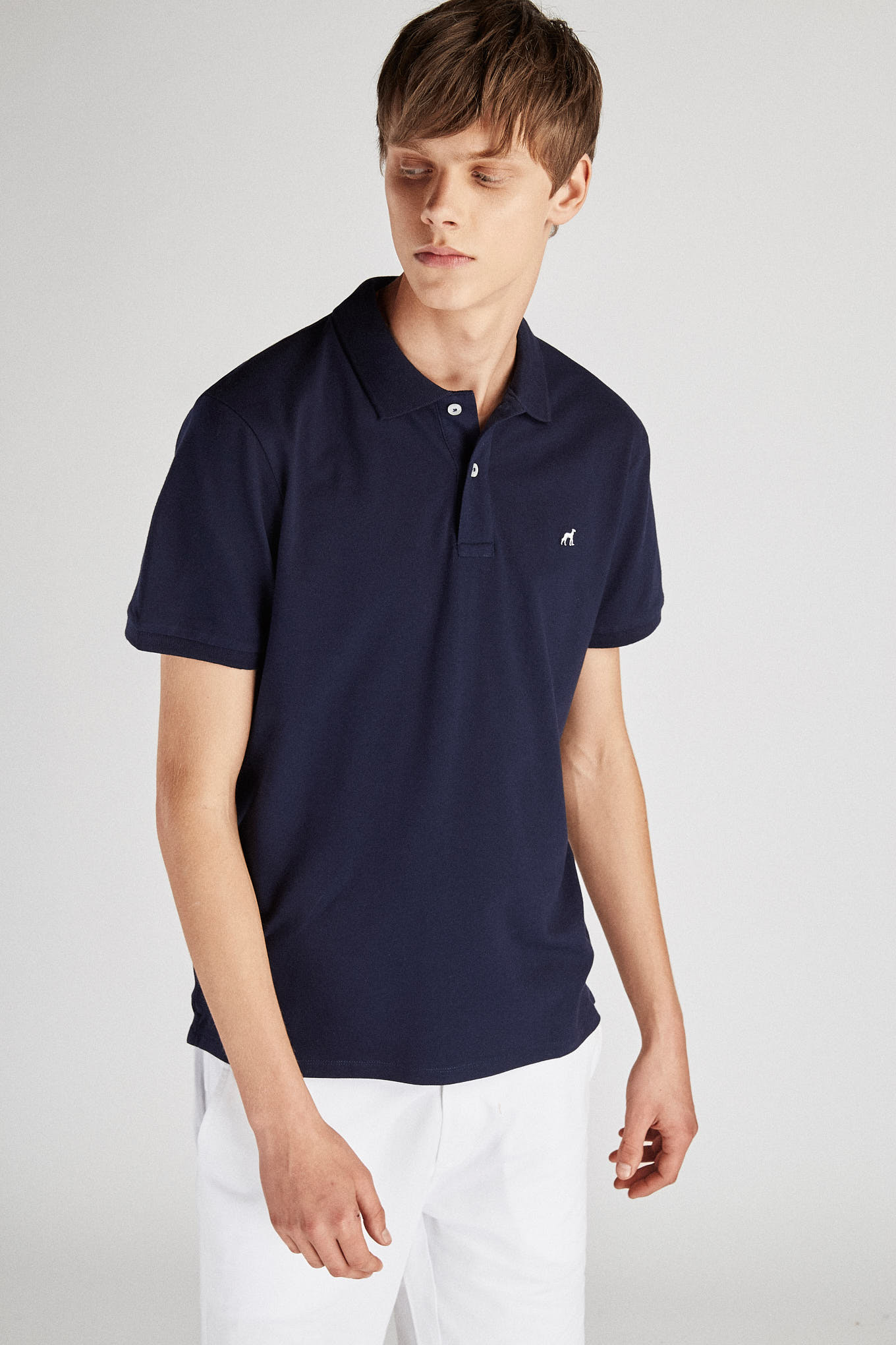 Polo Piquet Dark Blue Sport Man