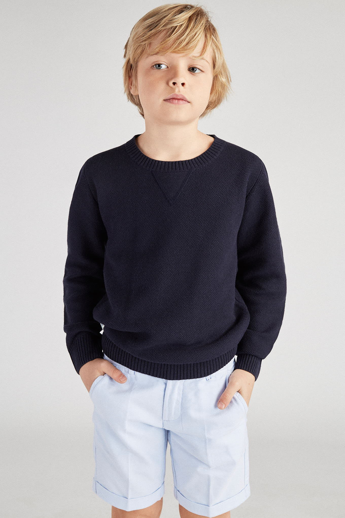 Sweater Dark Blue Casual Boy