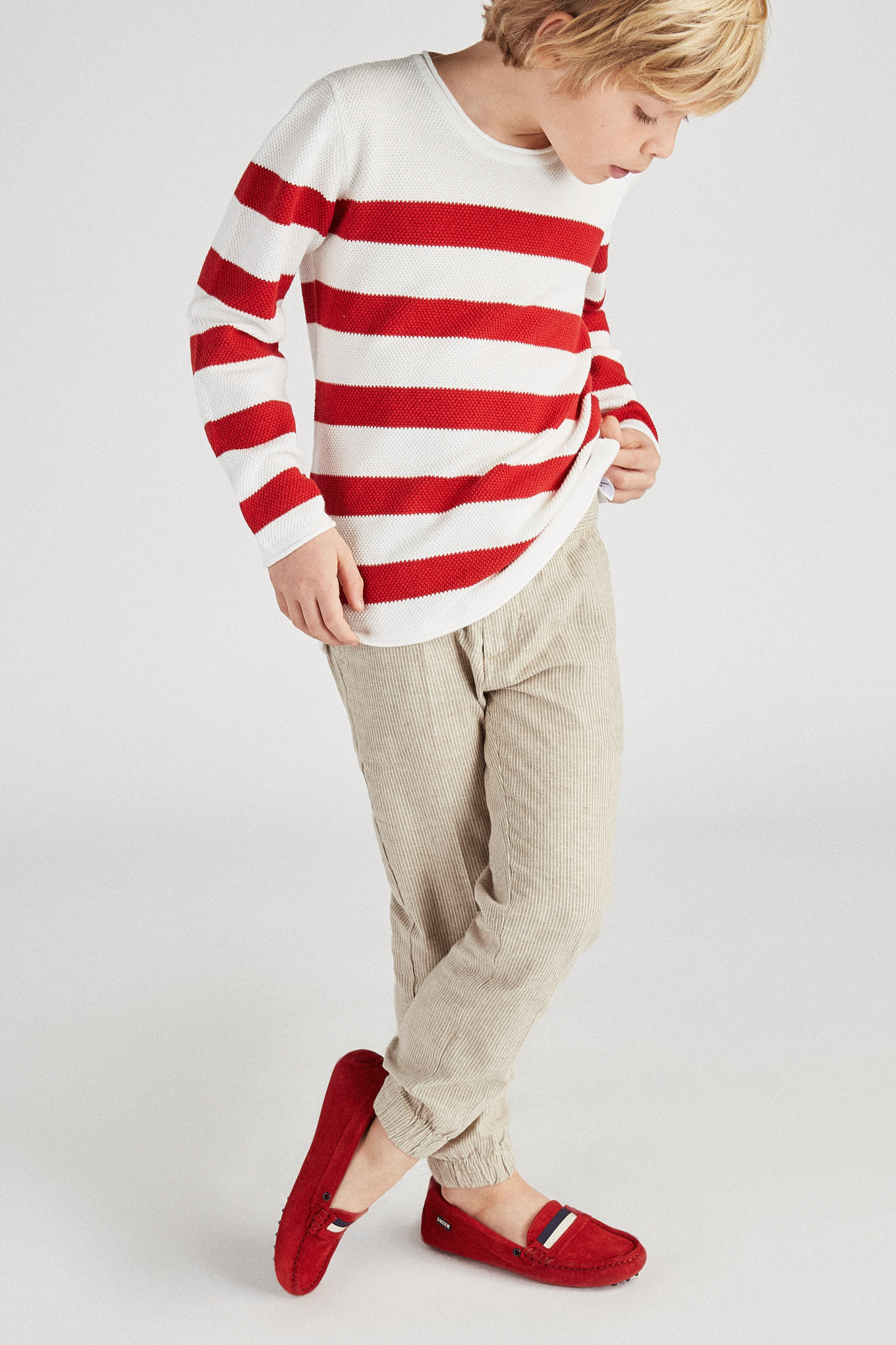Sweater Red Casual Boy