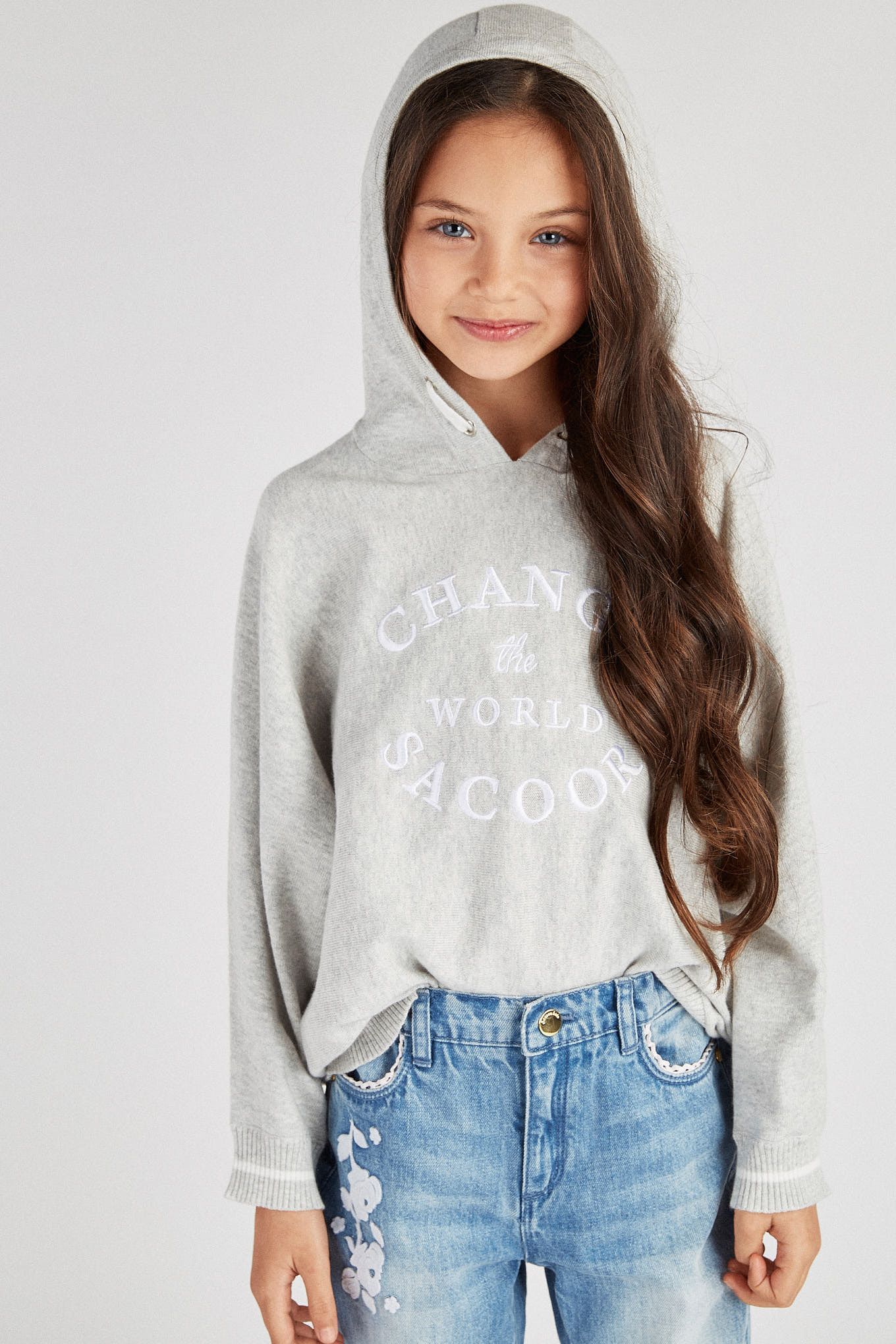 Sweater Light Grey Sport Girl